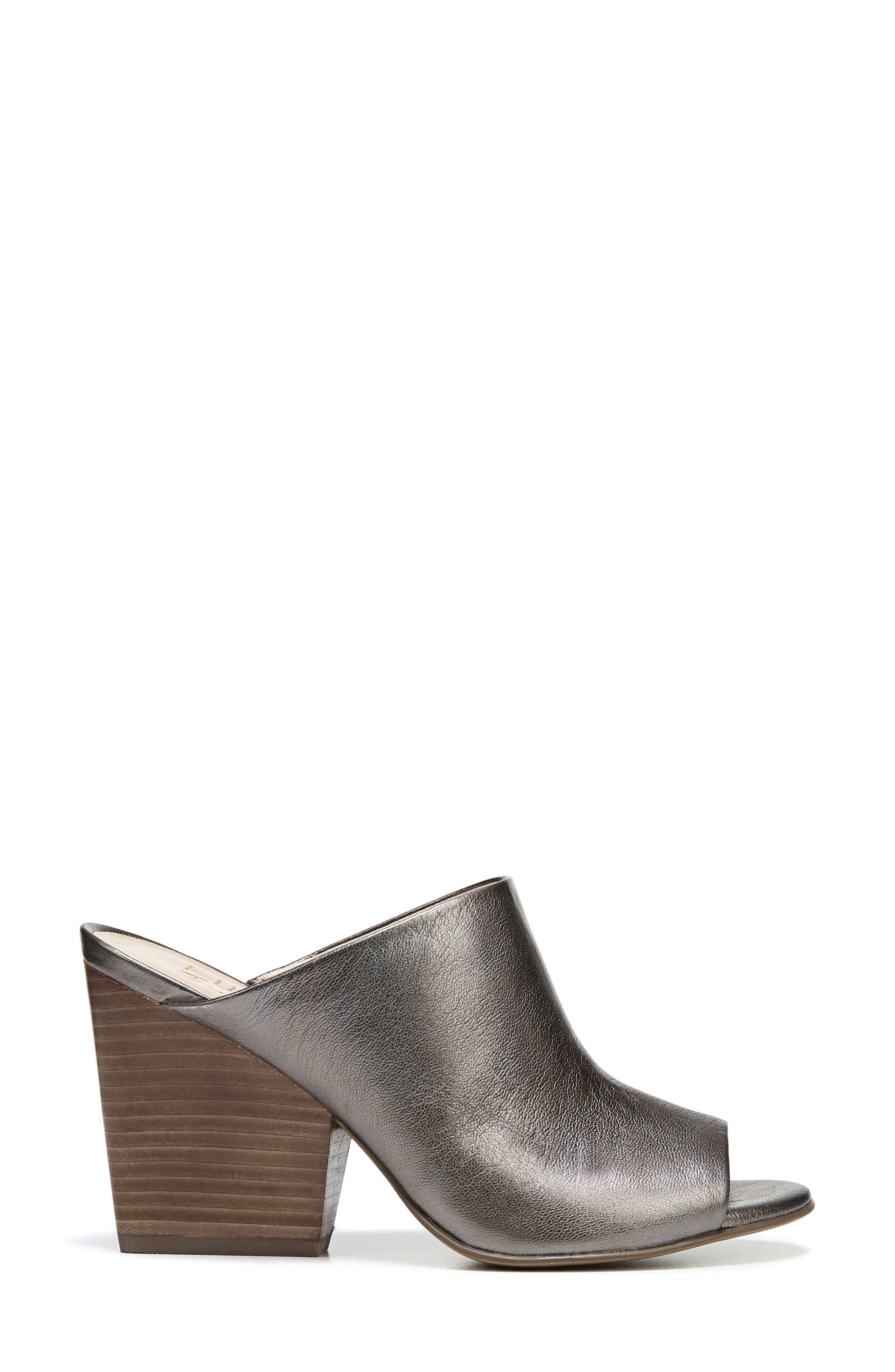 Sloan Sandal,                             Alternate thumbnail 3, color,                             Gunmetal Leather