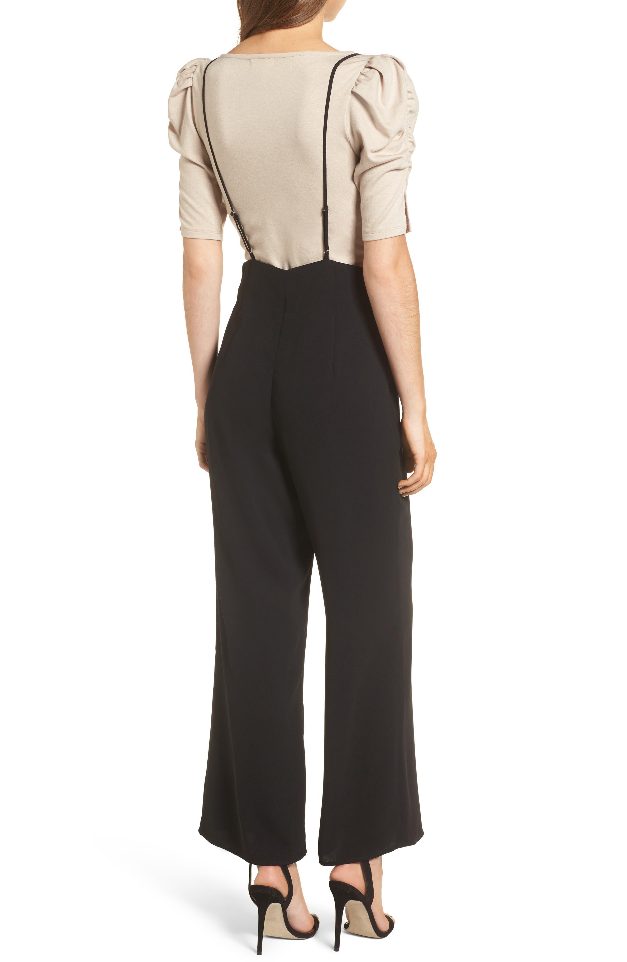 Suspender Pants,                             Alternate thumbnail 2, color,                             Black