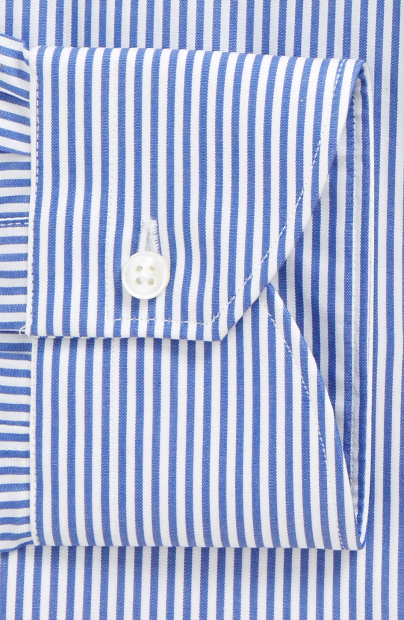 Regular Fit Stripe Dress Shirt,                             Alternate thumbnail 2, color,                             Navy