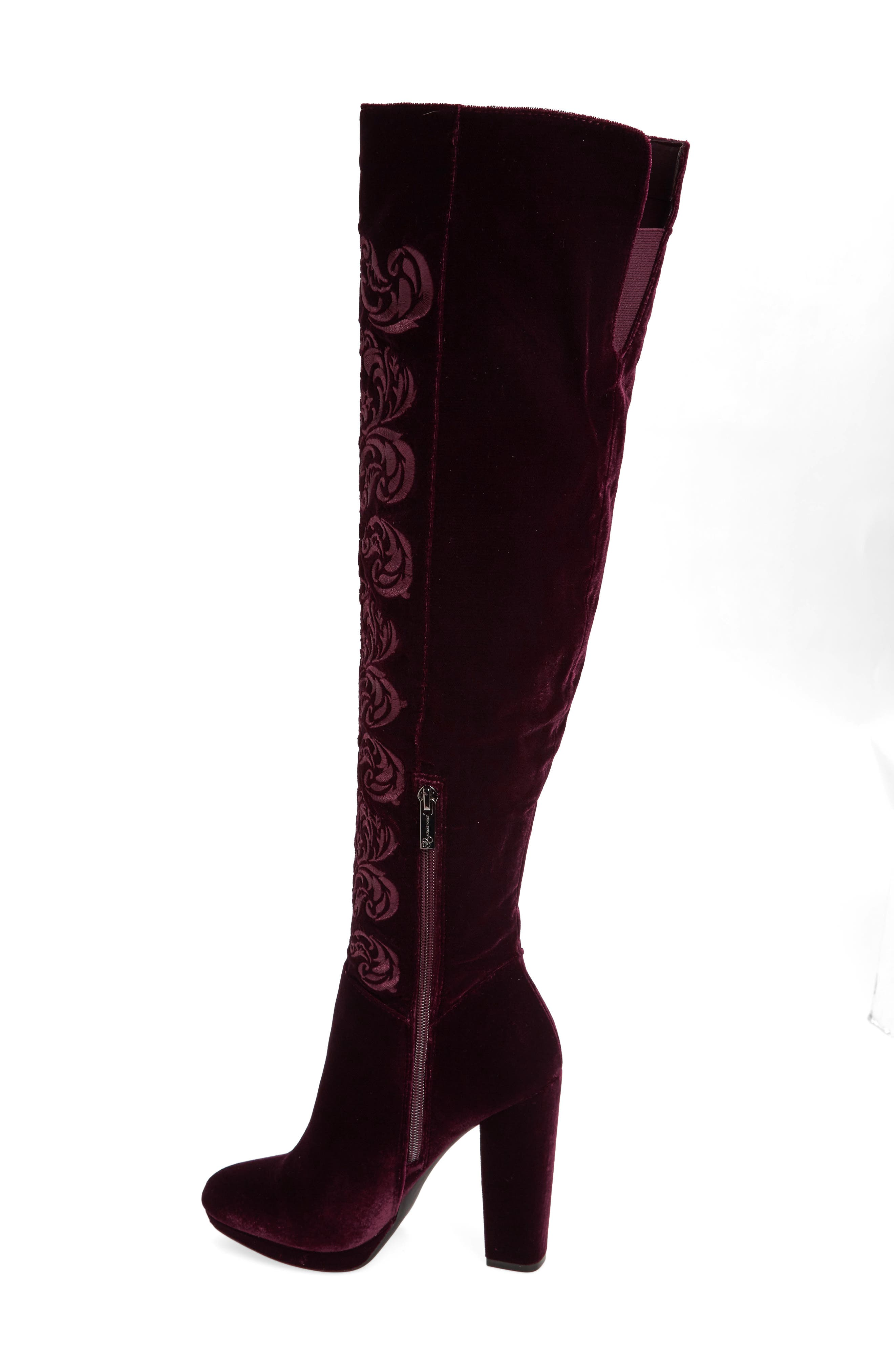 Alternate Image 2  - Jessica Simpson Grizella Embroidered Over the Knee Boot (Women)