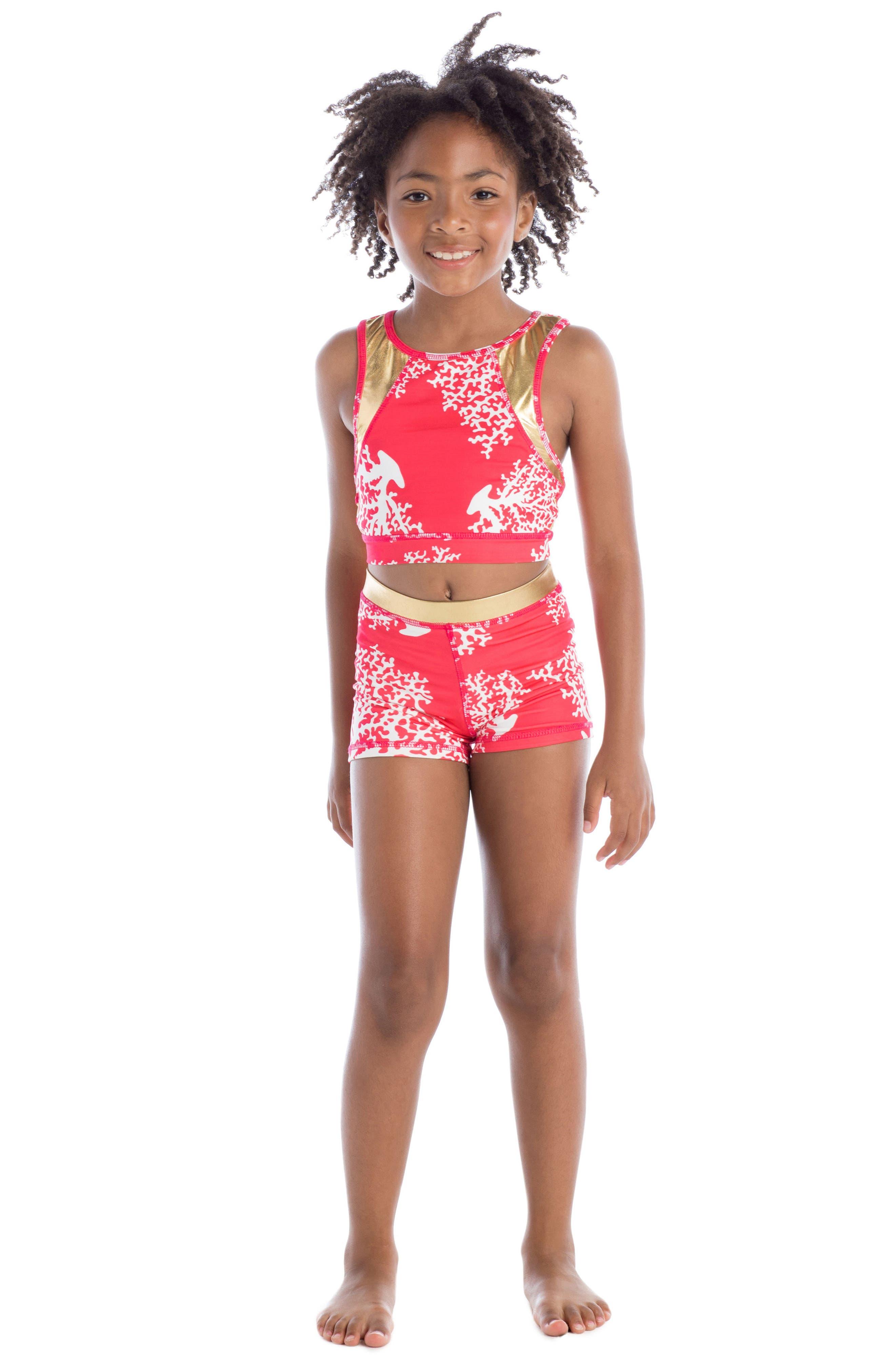 Alternate Image 3  - Masala Baby Racerback Two-Piece Swimsuit (Toddler Girls, Little Girls & Big Girls)