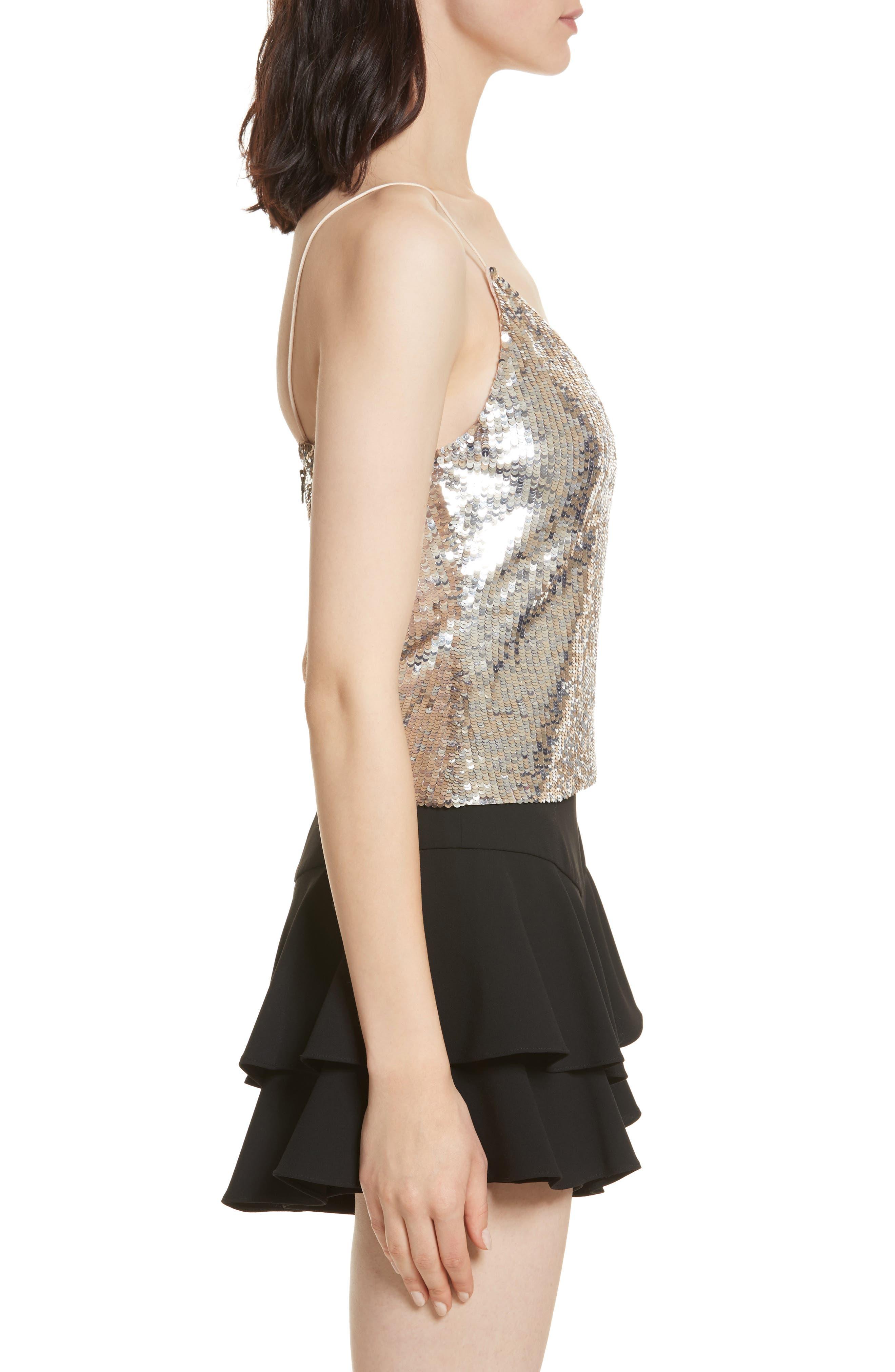 Alternate Image 3  - Alice + Olivia Delray Sequin Embellished Camisole
