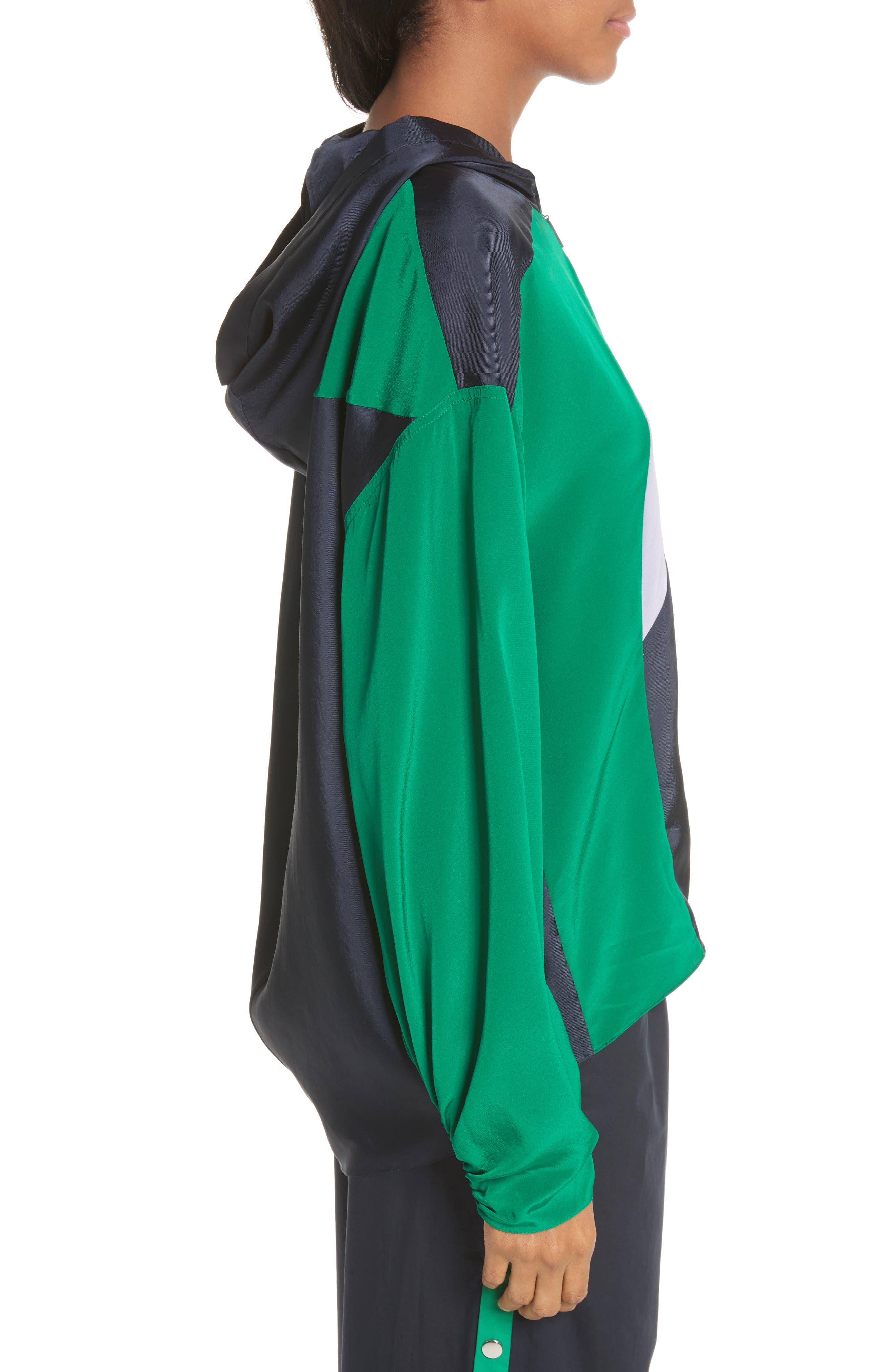 Hooded Jacket,                             Alternate thumbnail 3, color,                             Navy Multi