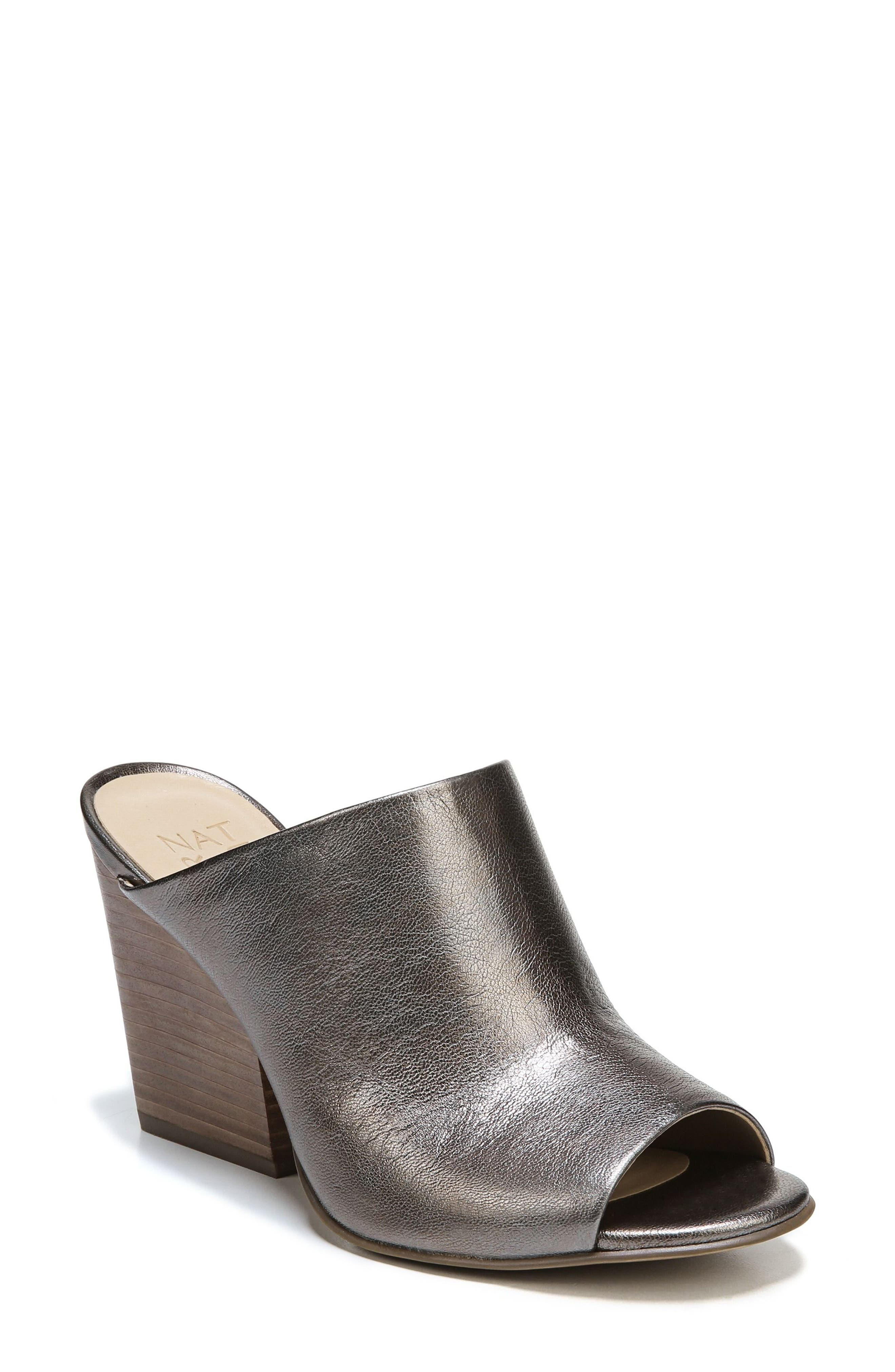 Sloan Sandal,                         Main,                         color, Gunmetal Leather