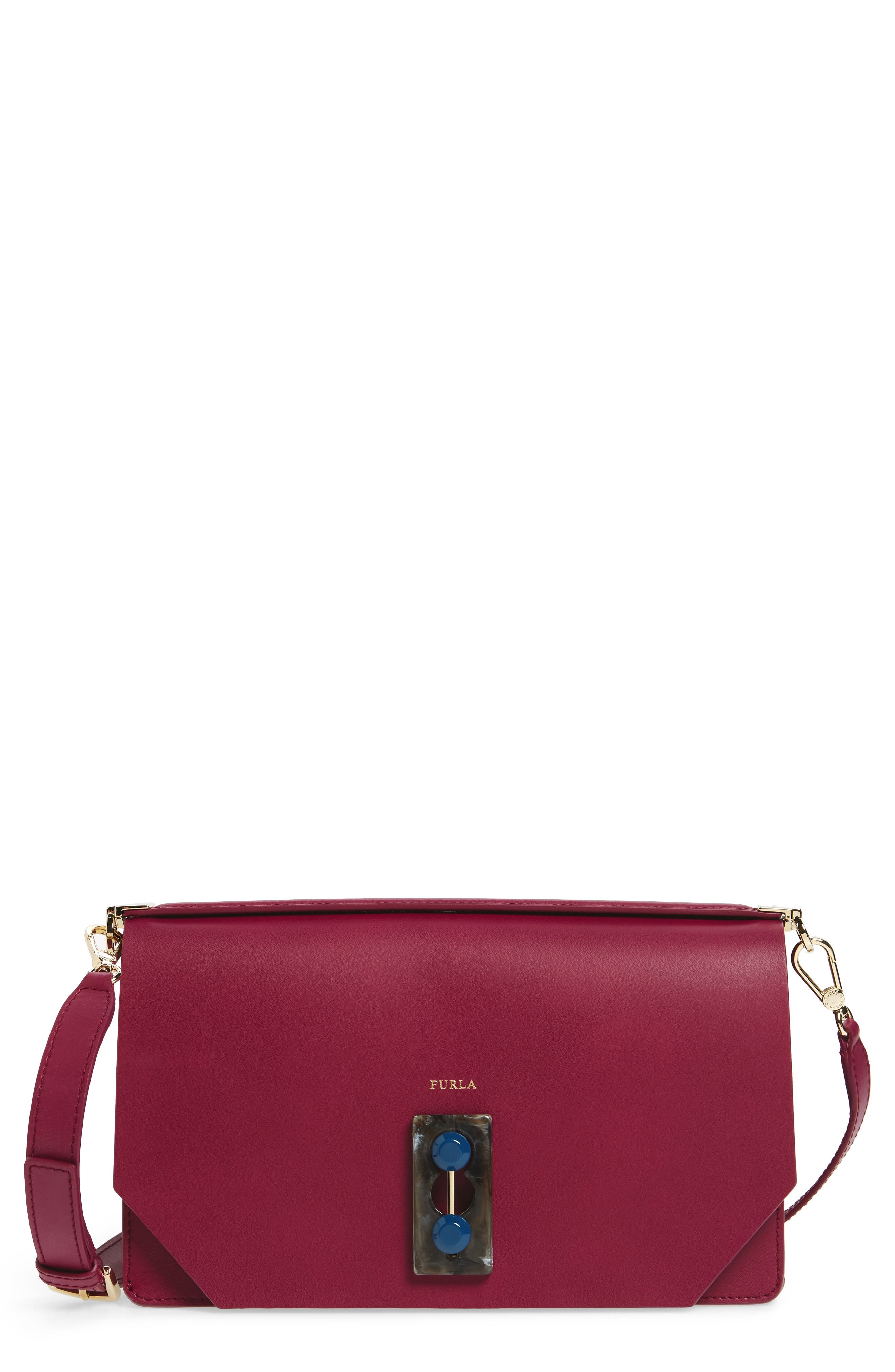 Furla Snap Leather Shoulder Bag