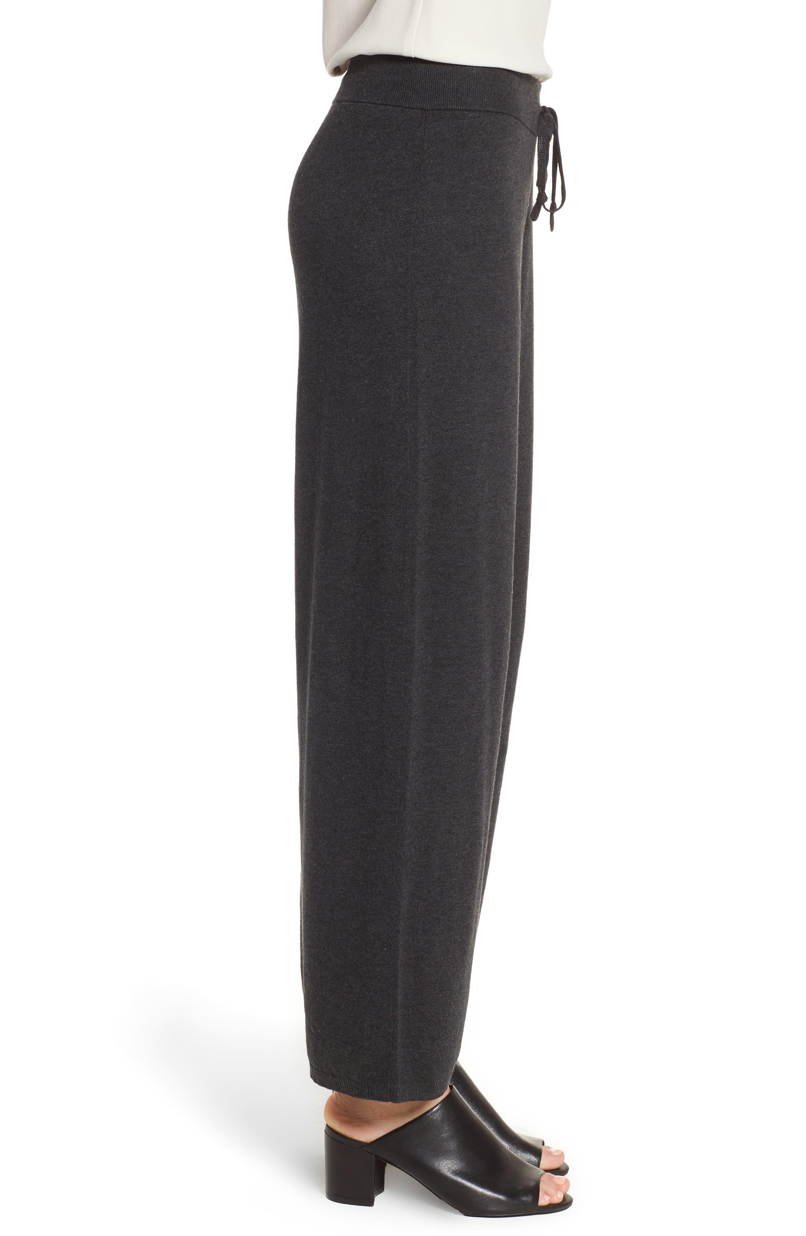 Alternate Image 3  - Eileen Fisher Tencel® Blend Knit Wide Leg Pants