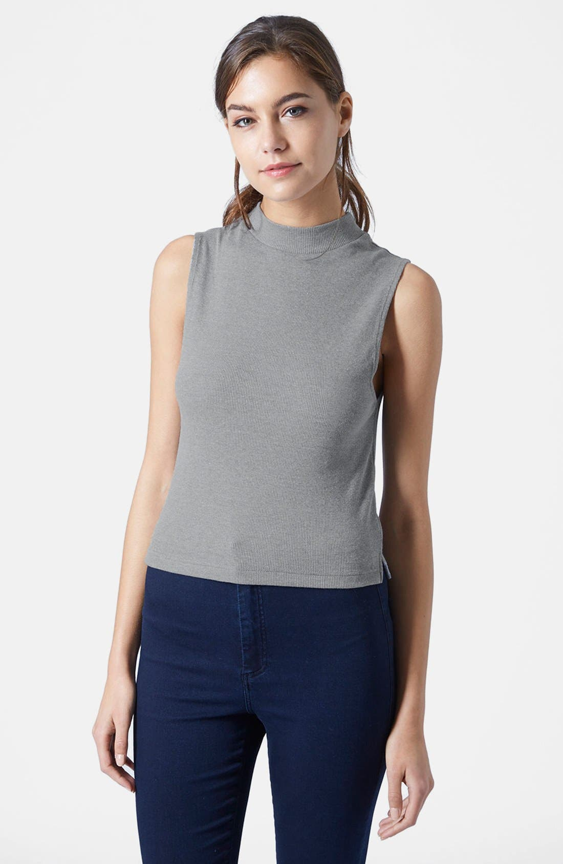 Main Image - Topshop Sleeveless Funnel Top