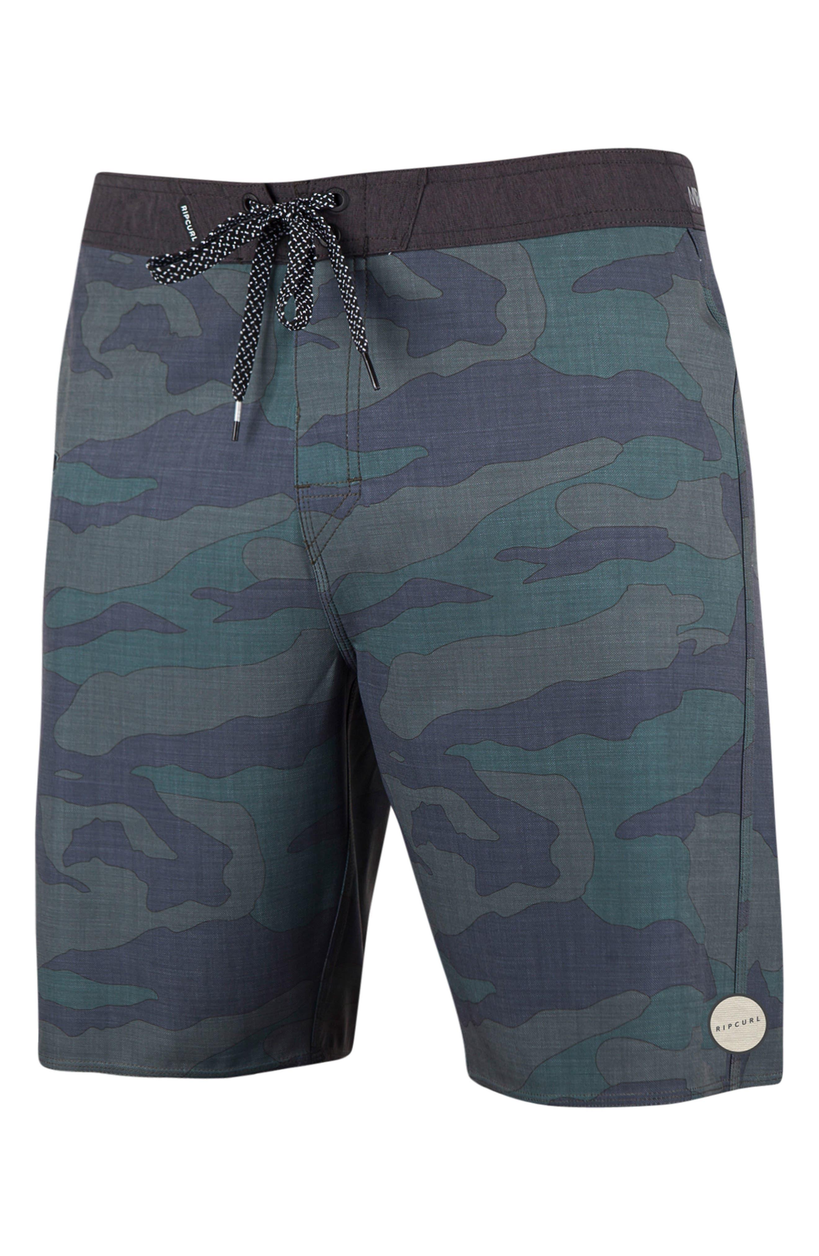 Mirage Backyard Board Shorts,                             Main thumbnail 1, color,                             Camo