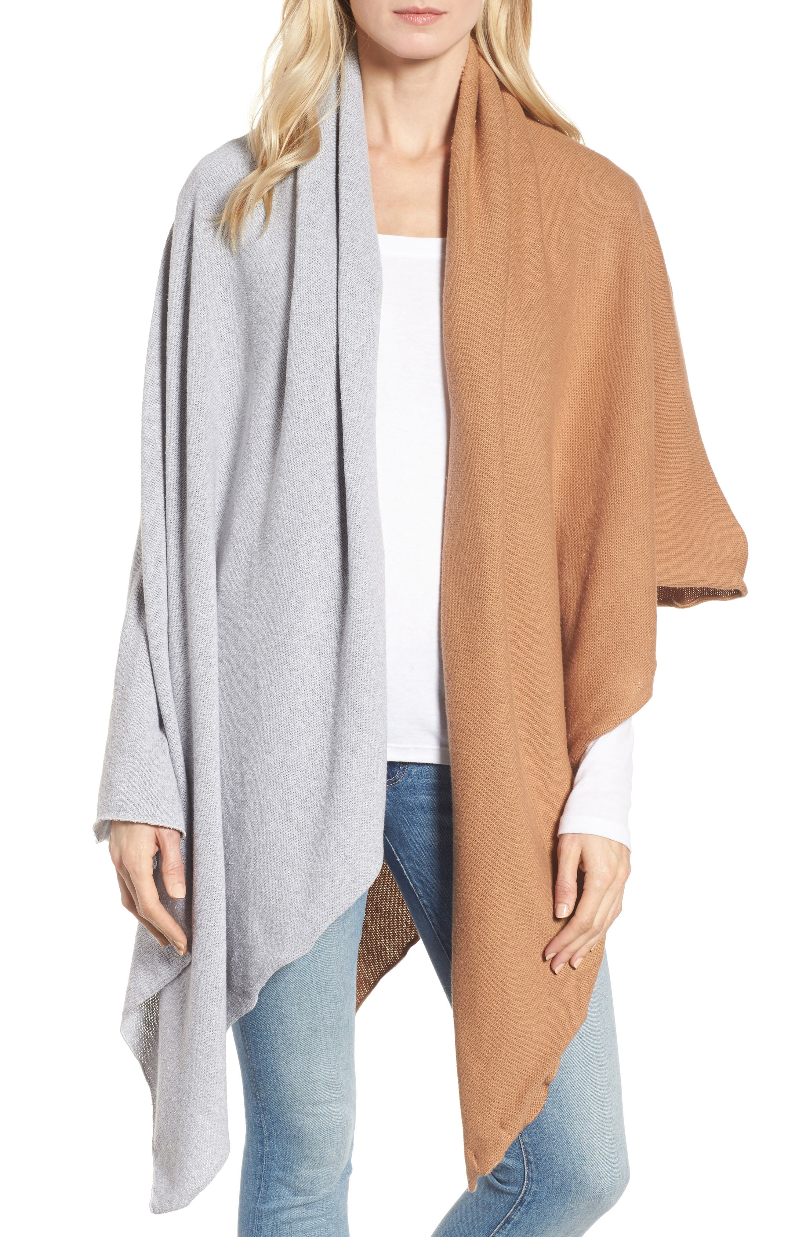 Alternate Image 1 Selected - Donni Charm Chilly Colorblock Blanket Scarf