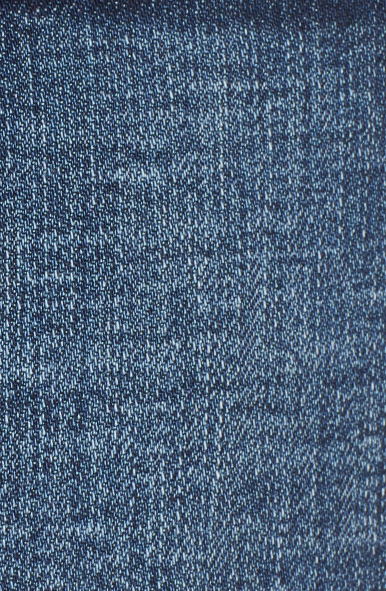 High Rise Fray Ripped Cutoff Shorts,                             Alternate thumbnail 6, color,                             Medium