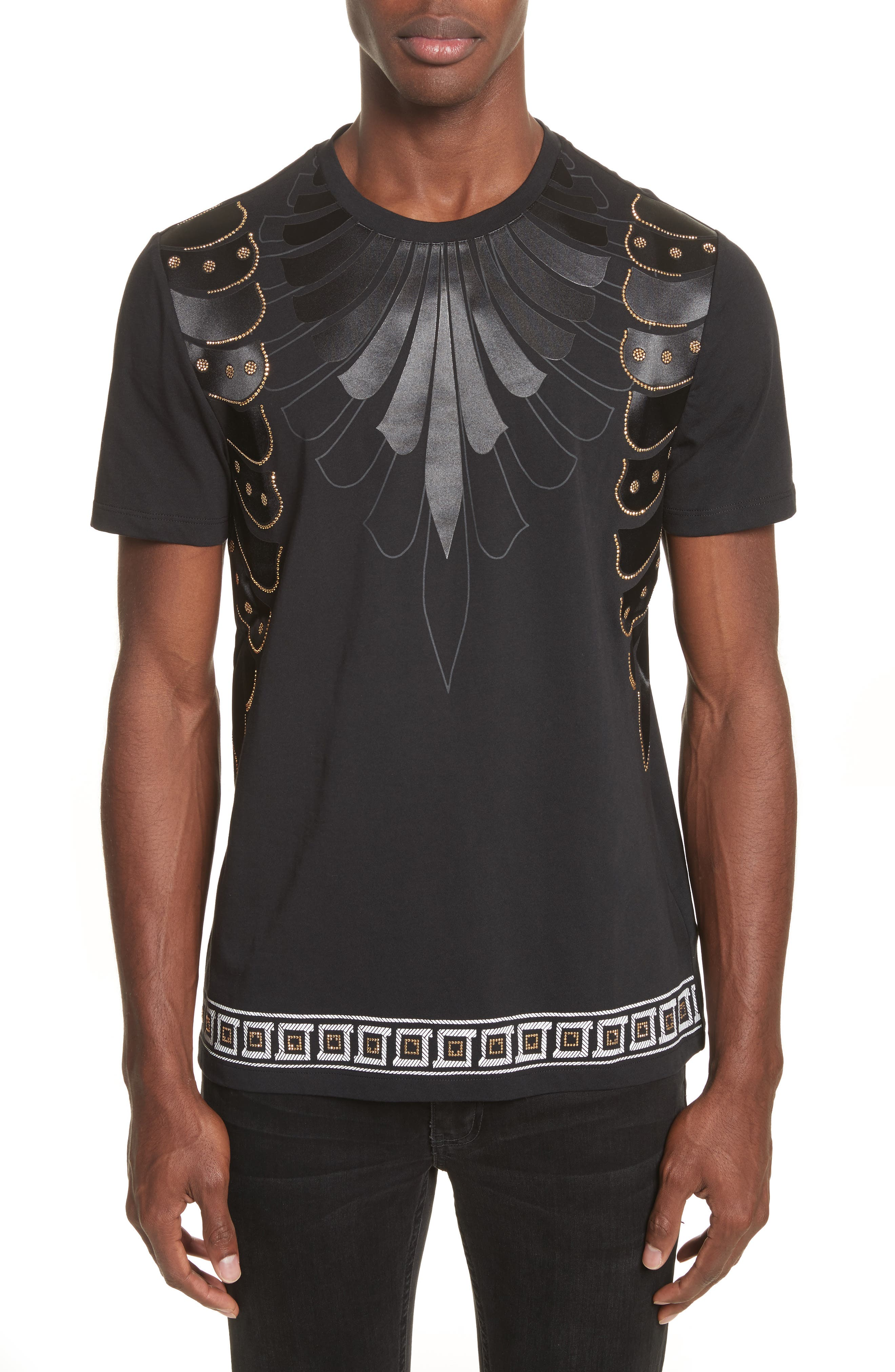 Alternate Image 1 Selected - Versace Collection Armor Print T-Shirt