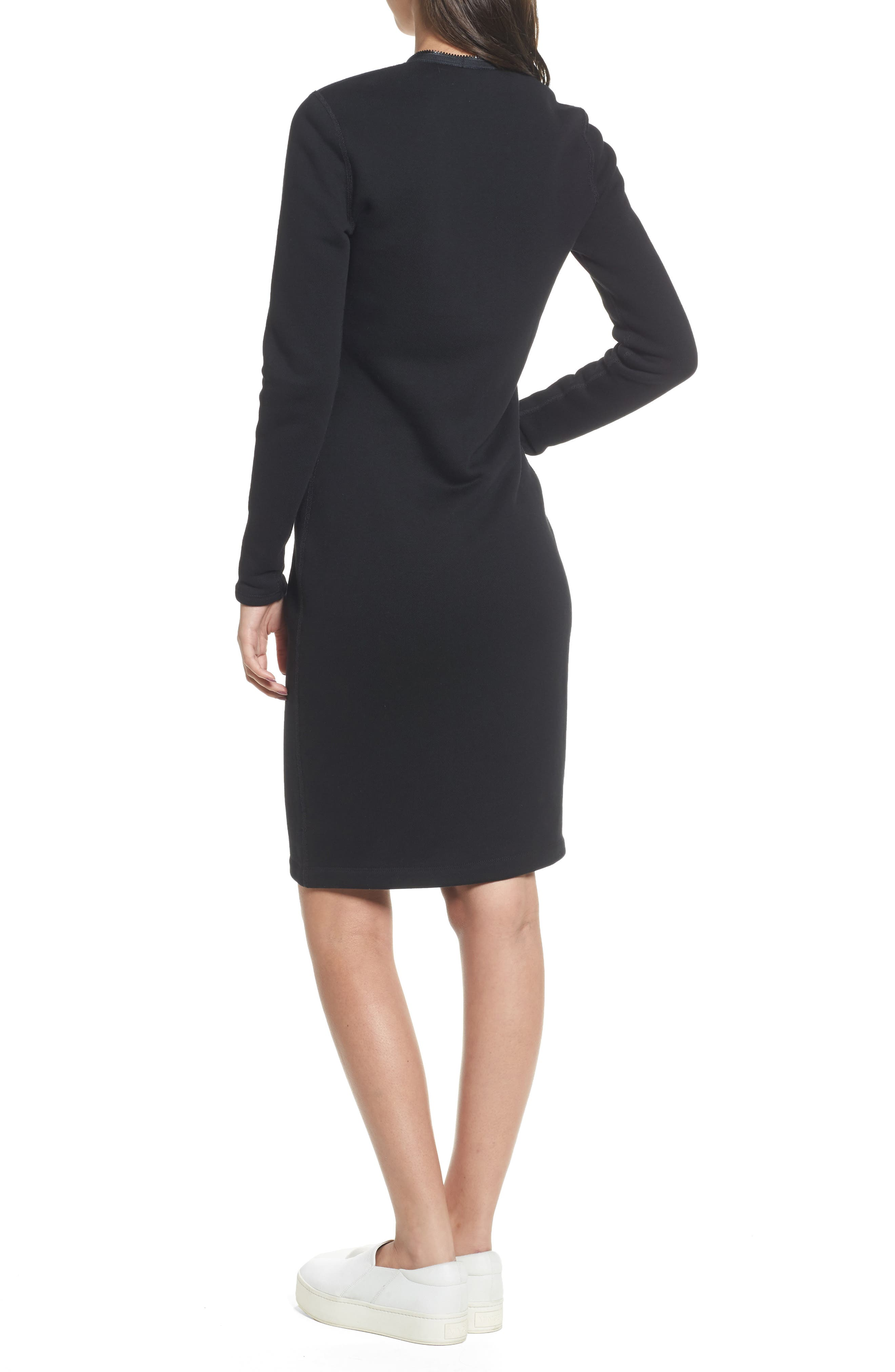 Alternate Image 2  - James Perse Zip Front Scuba Dress