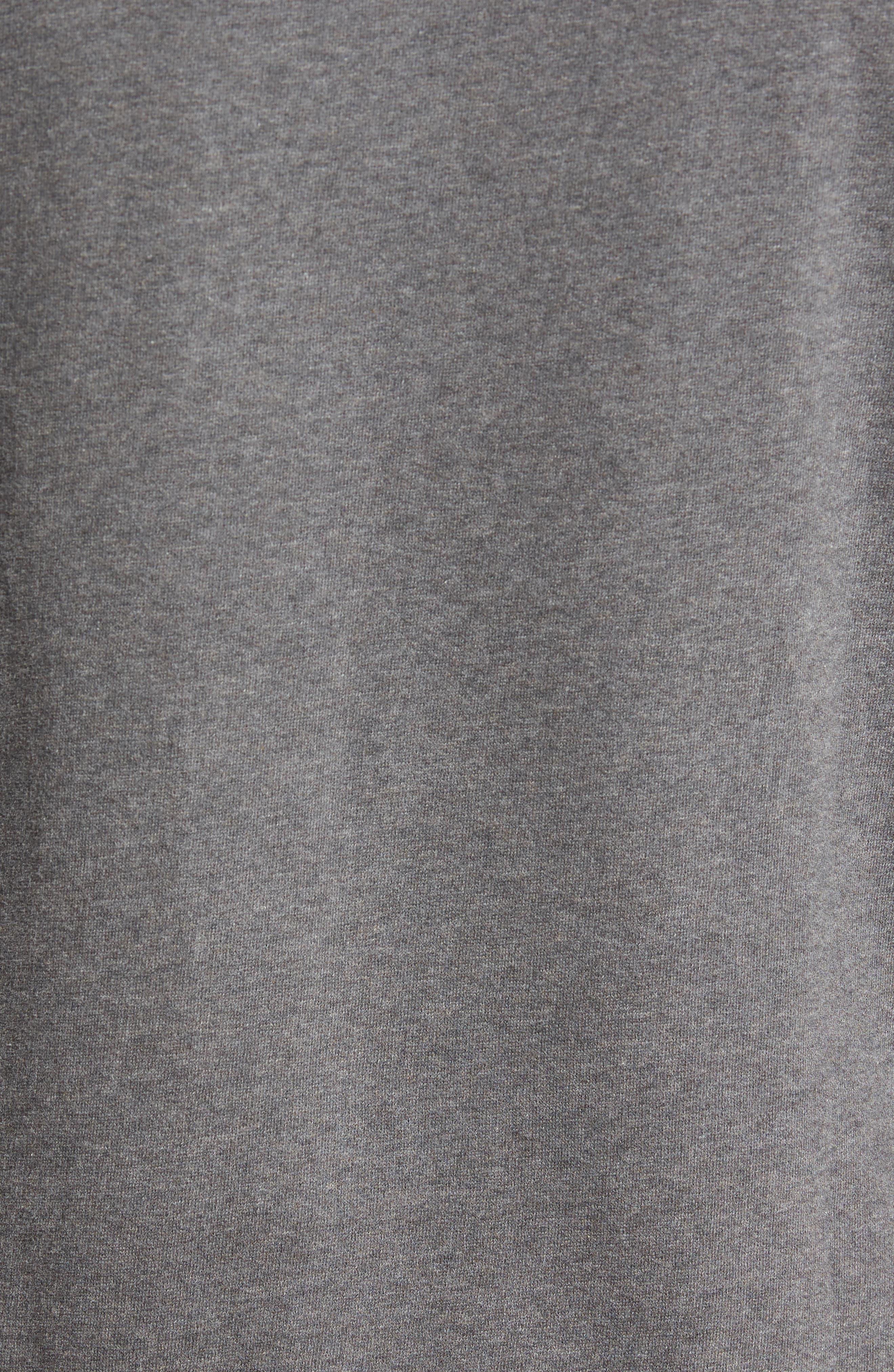 Tweed Appliqué Sweatshirt,                             Alternate thumbnail 5, color,                             Charcoal Melange