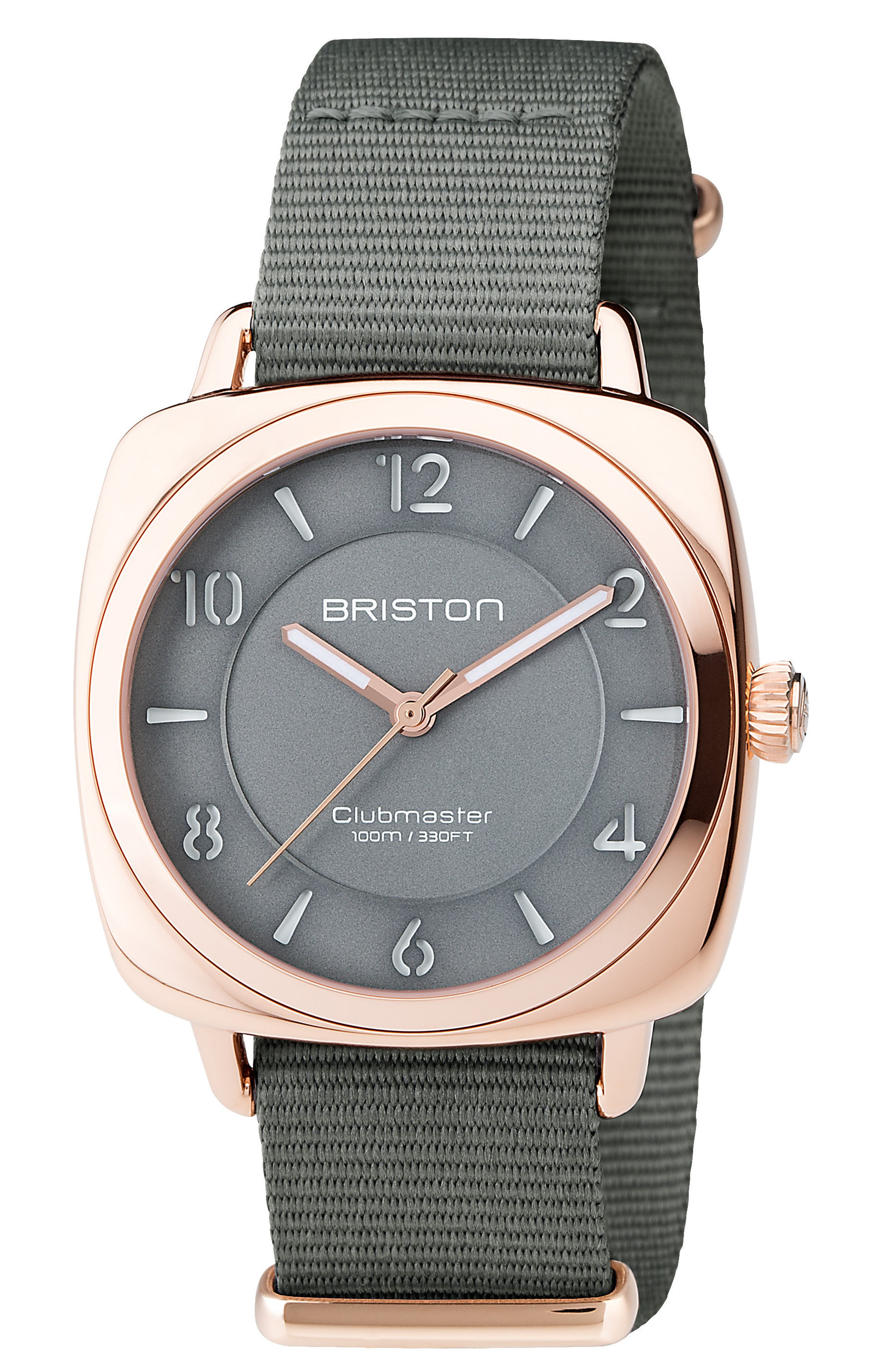 Alternate Image 1 Selected - Briston Watches Clubmaster Chic Nylon Strap Watch, 36mm