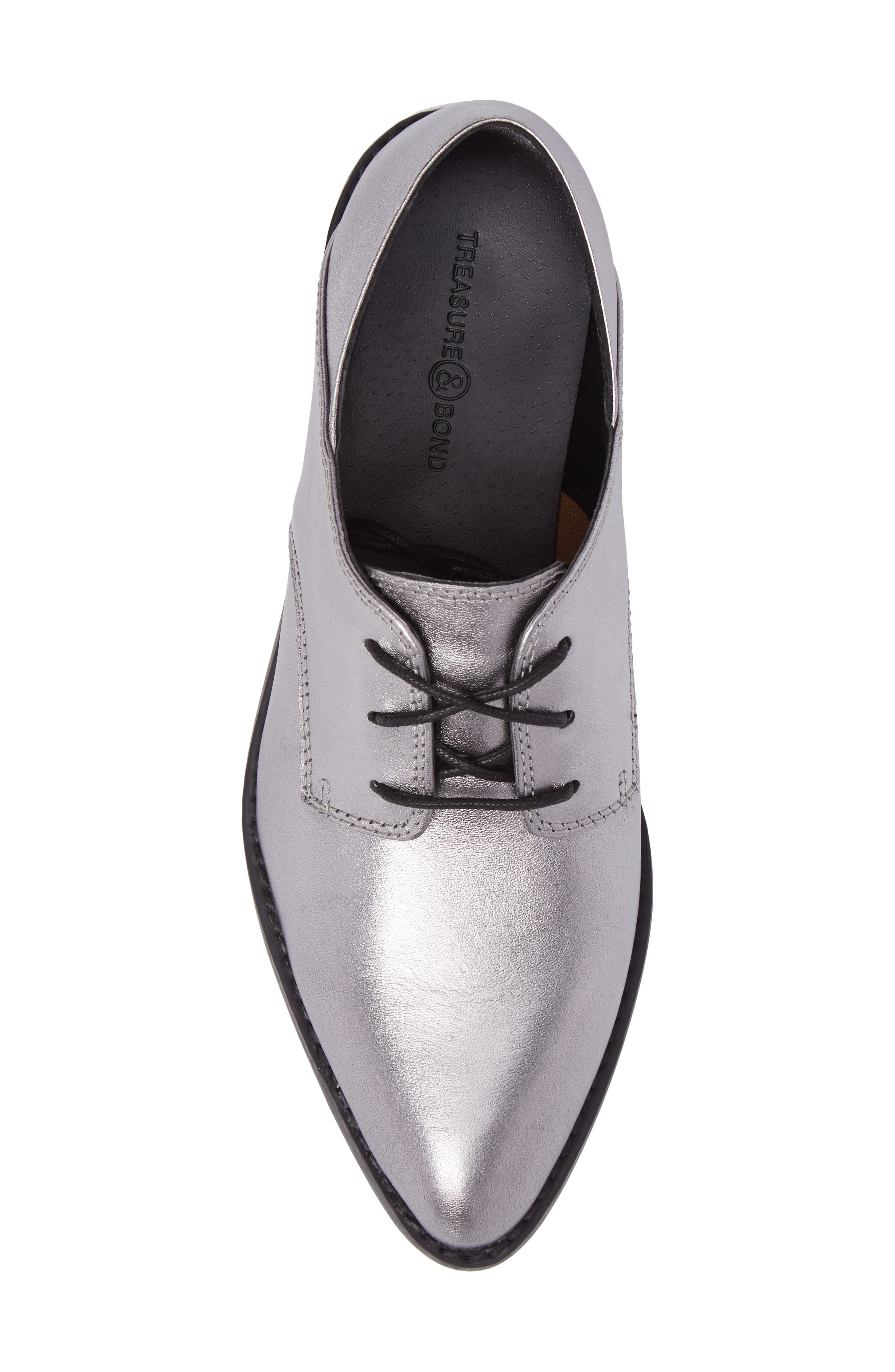 Corbin Oxford,                             Alternate thumbnail 5, color,                             Pewter Leather