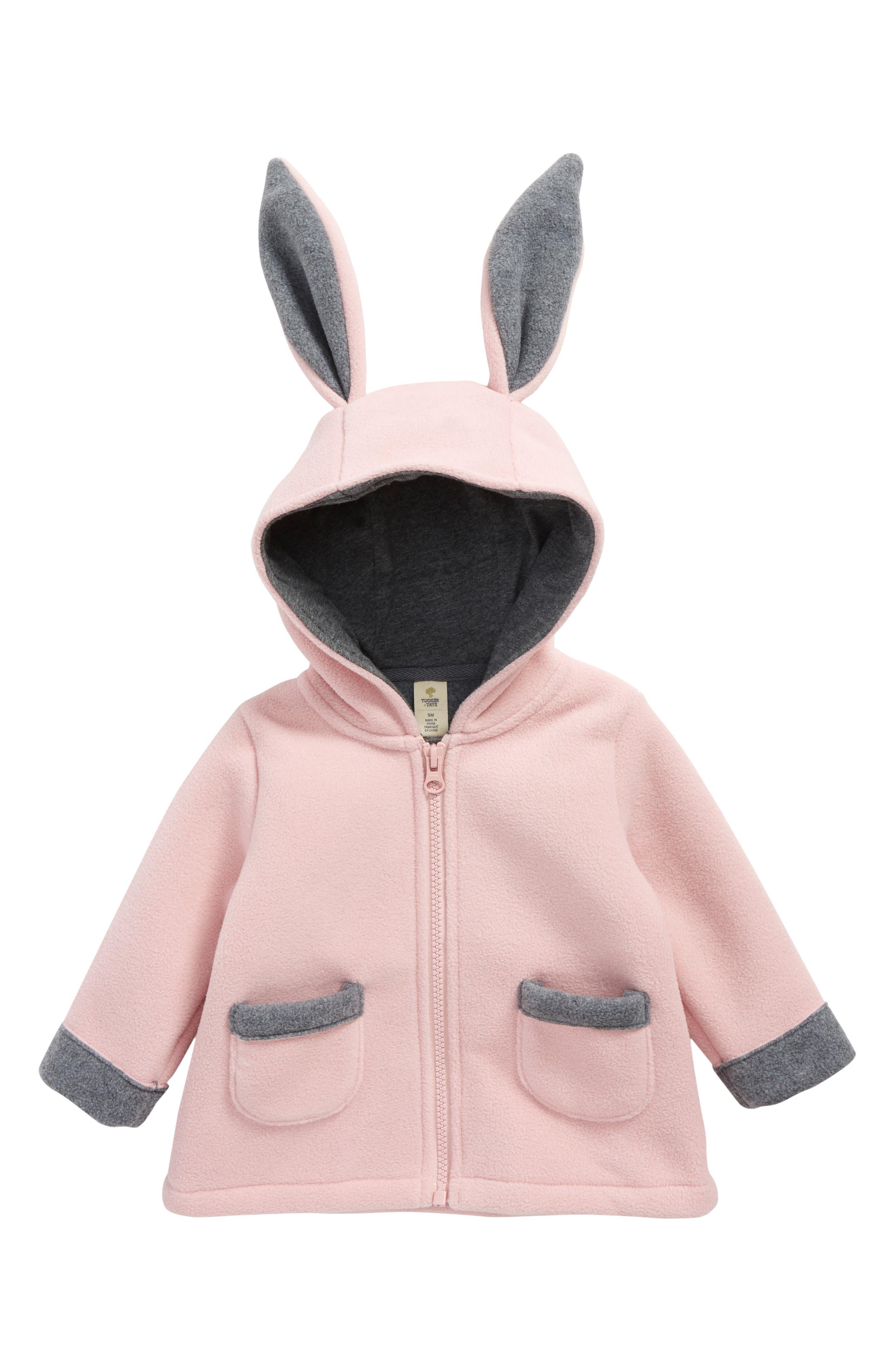 Tucker + Tate Bunny Fleece Jacket (Baby Girls)