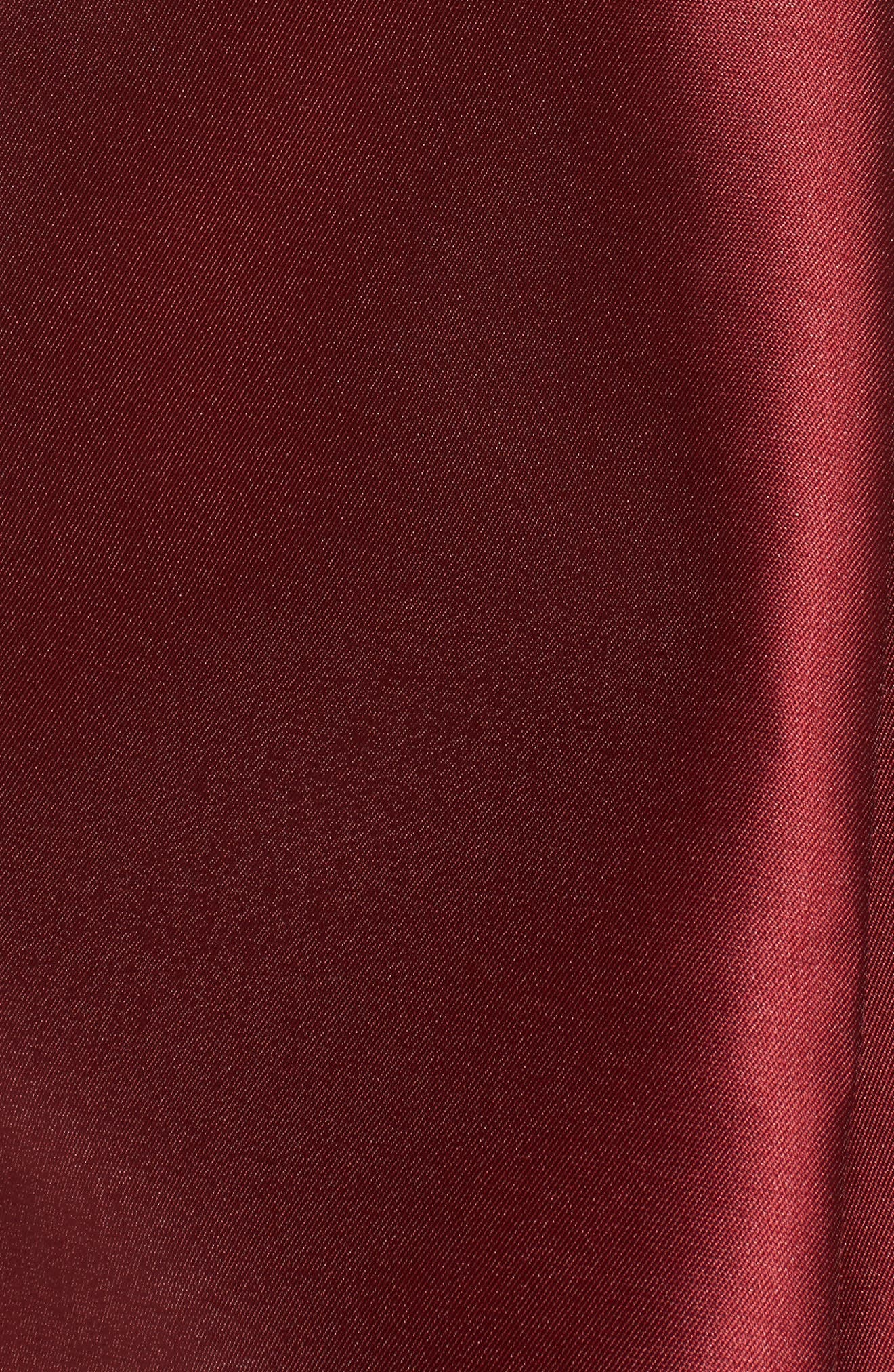 Pleated Mikado Skirt,                             Alternate thumbnail 6, color,                             Red