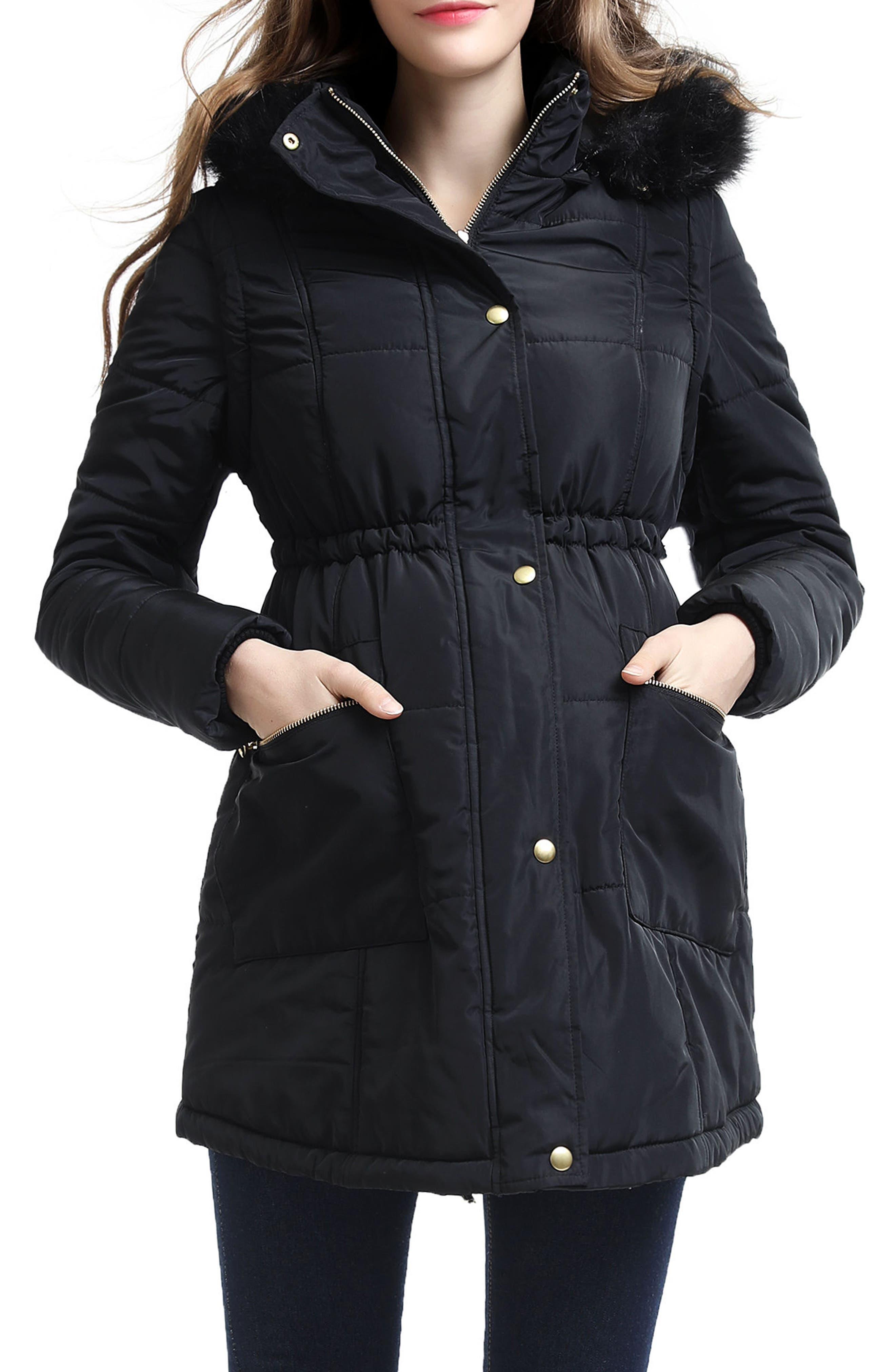 Main Image - Kimi and Kai Mina 2-in-1 Hooded Maternity Coat
