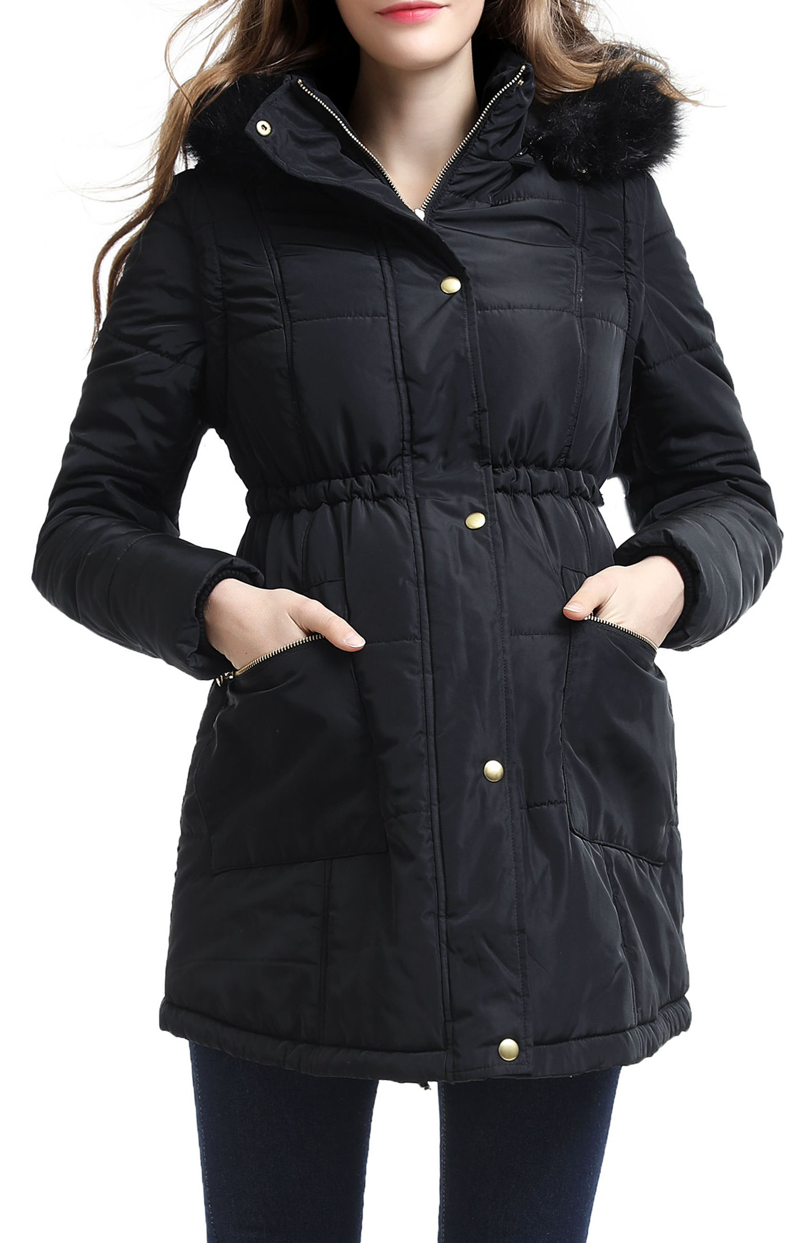 Kimi and Kai Mina 2-in-1 Hooded Maternity Coat