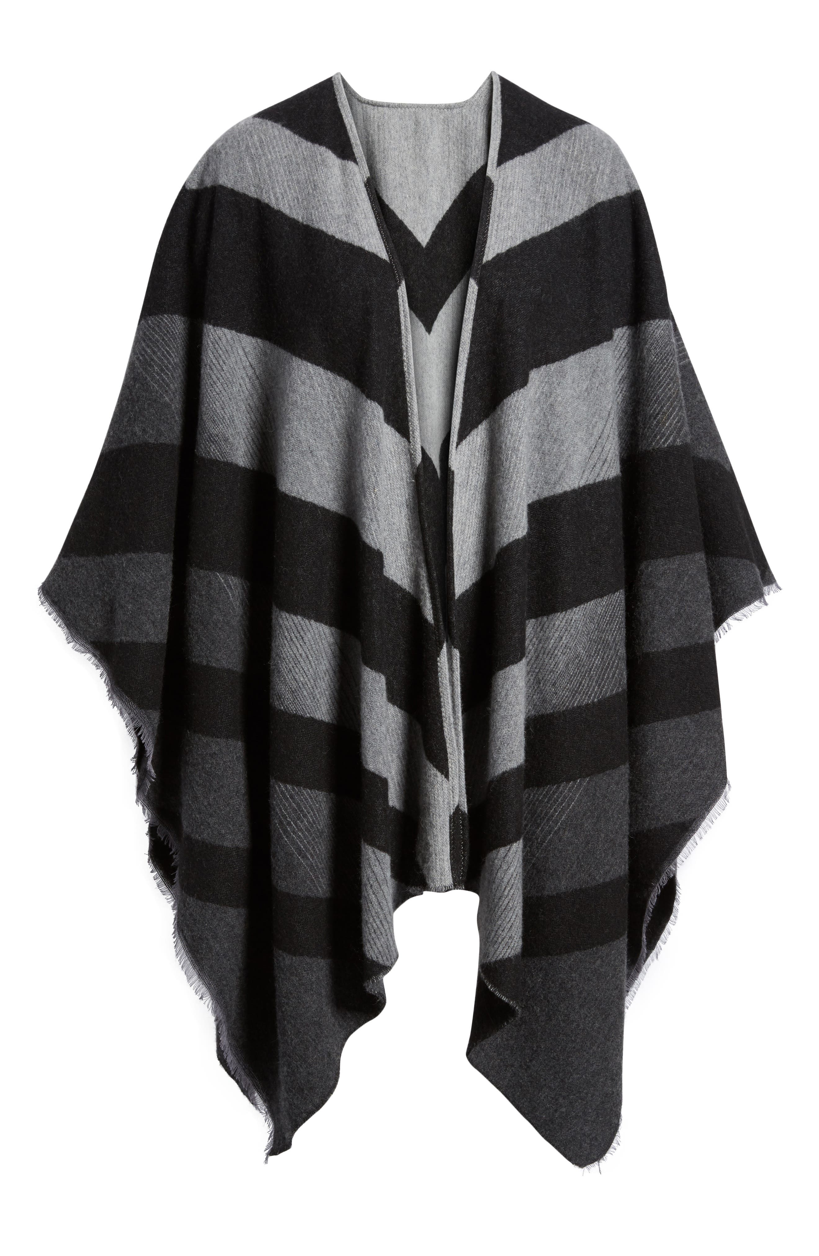 Alternate Image 6  - Eileen Fisher Stripe Wool Blend Poncho Wrap