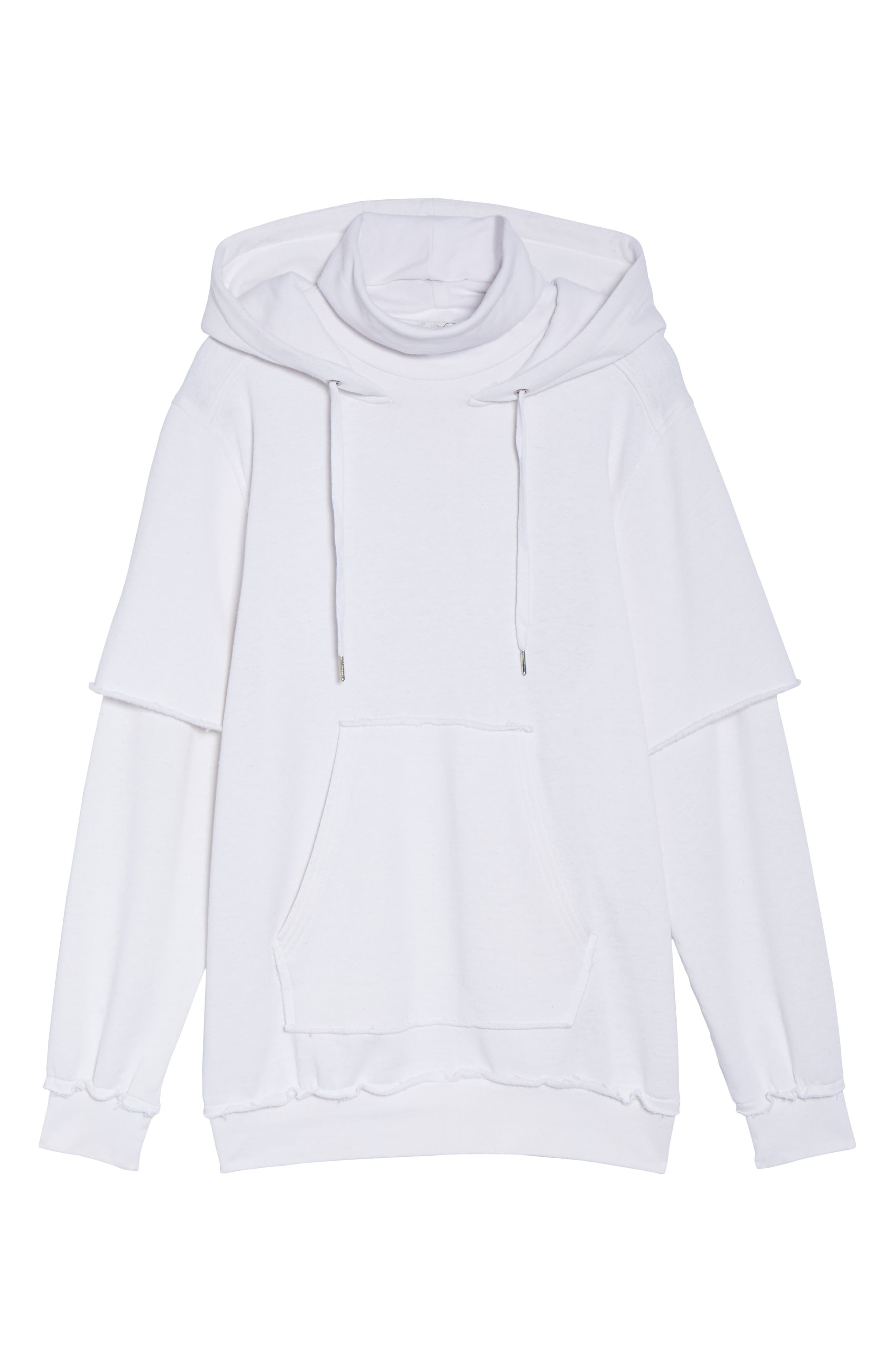 Good Hood Sweatshirt Dress,                             Alternate thumbnail 6, color,                             White