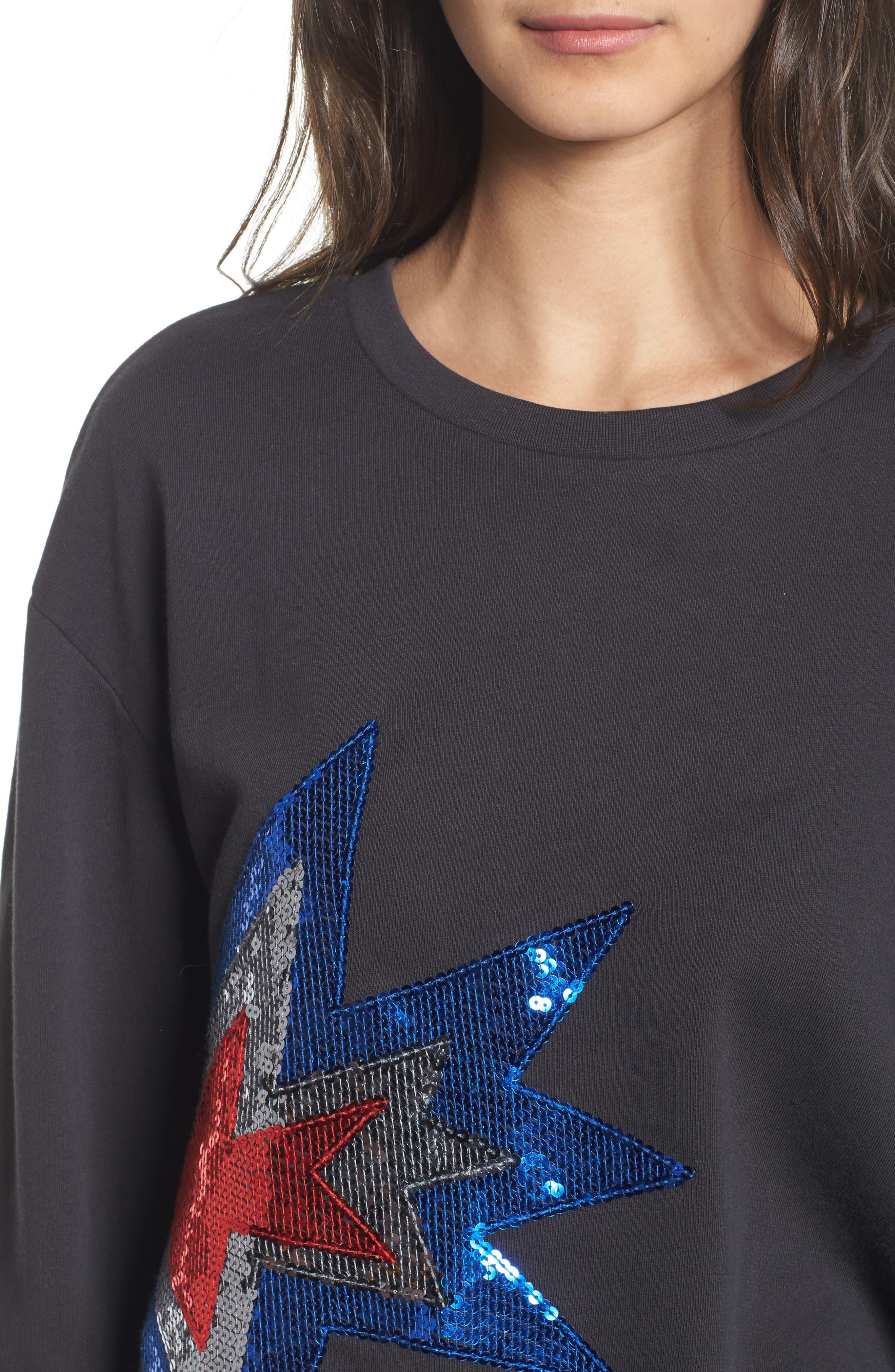 Alexa - Splash Sweatshirt,                             Alternate thumbnail 4, color,                             Black