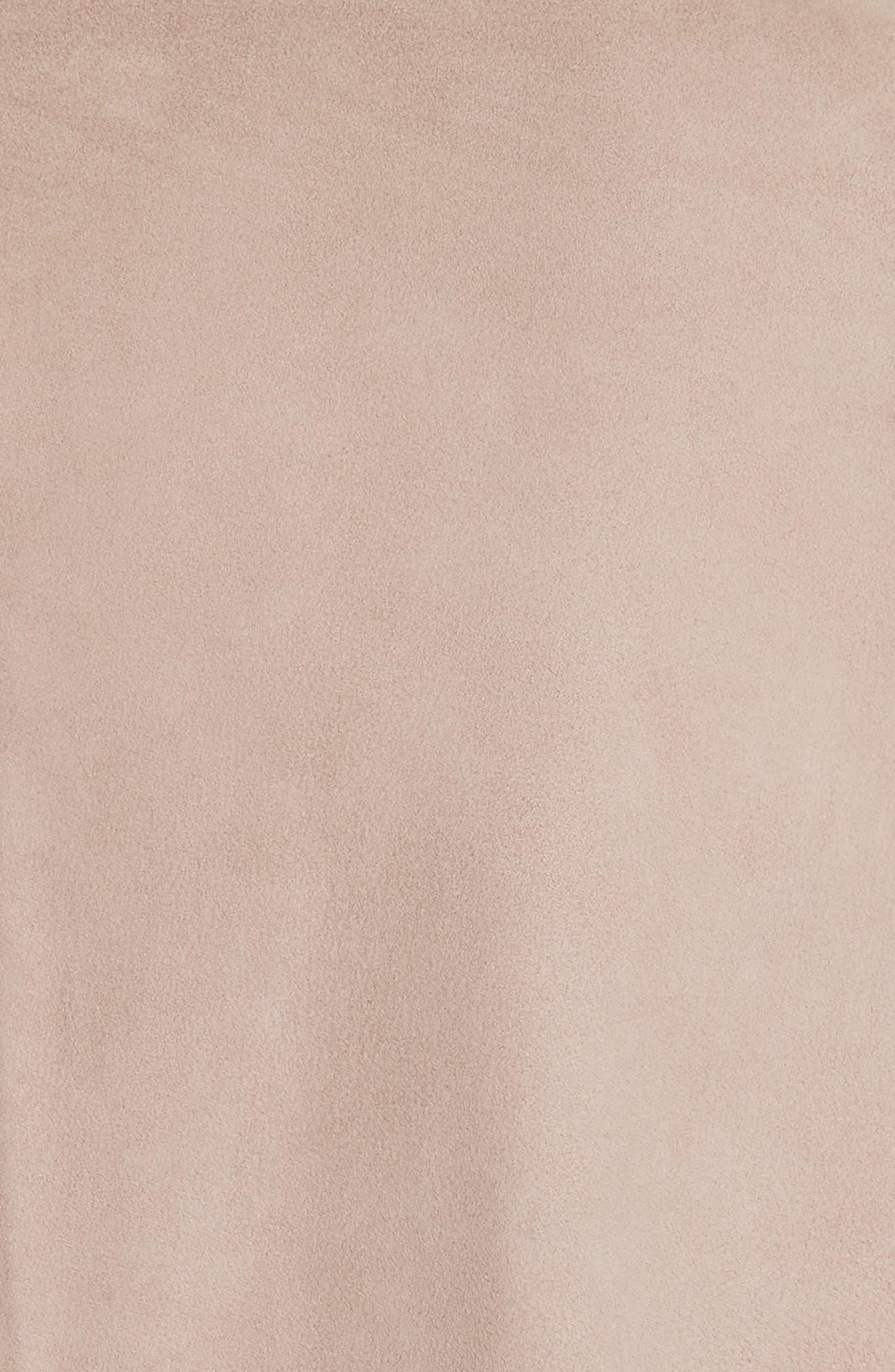 Laritza Braided Leather Vest,                             Alternate thumbnail 5, color,                             Osprey