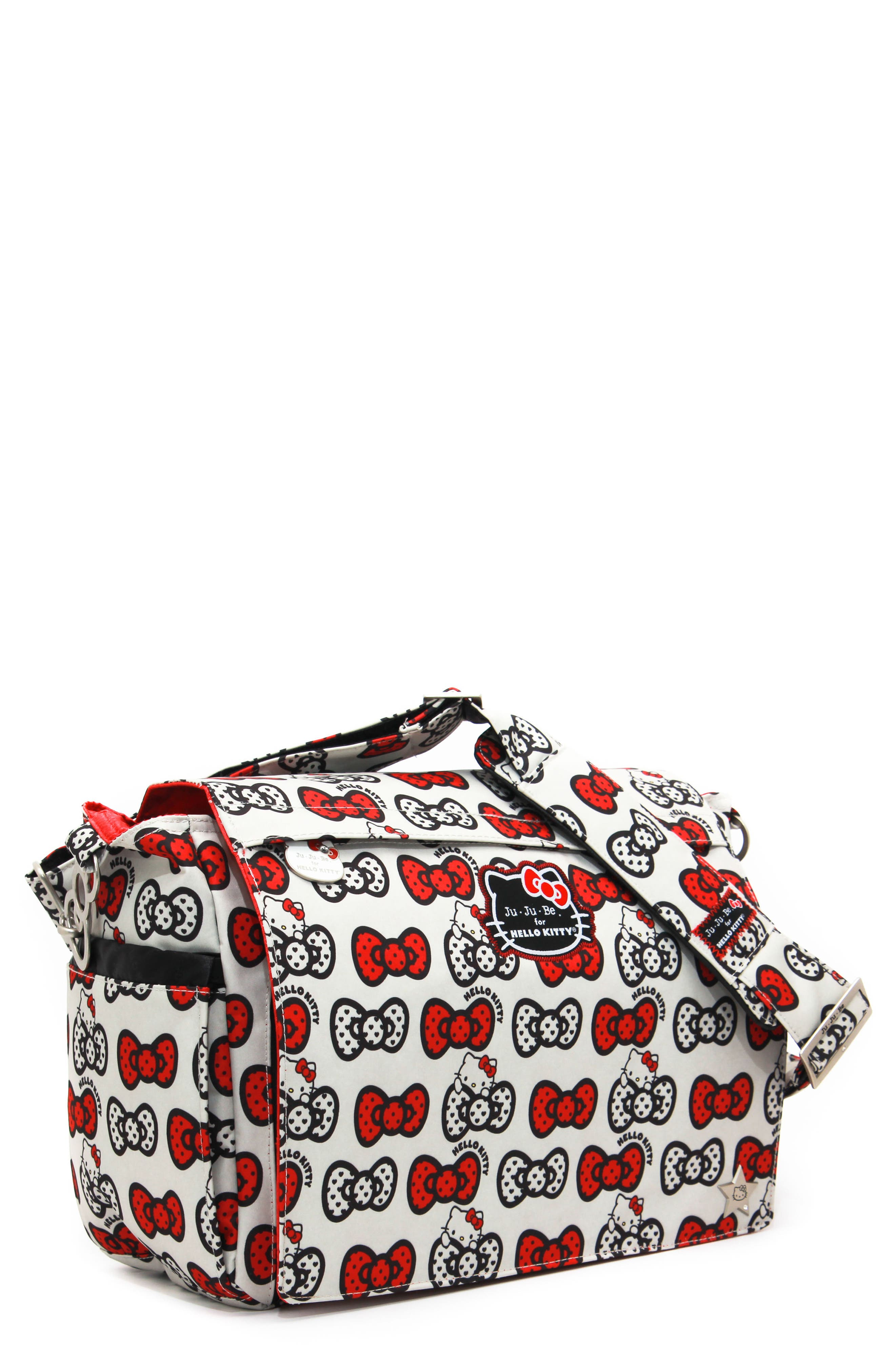 for Hello Kitty<sup>®</sup> 'Better Be' Diaper Bag,                         Main,                         color, Peek A Bow