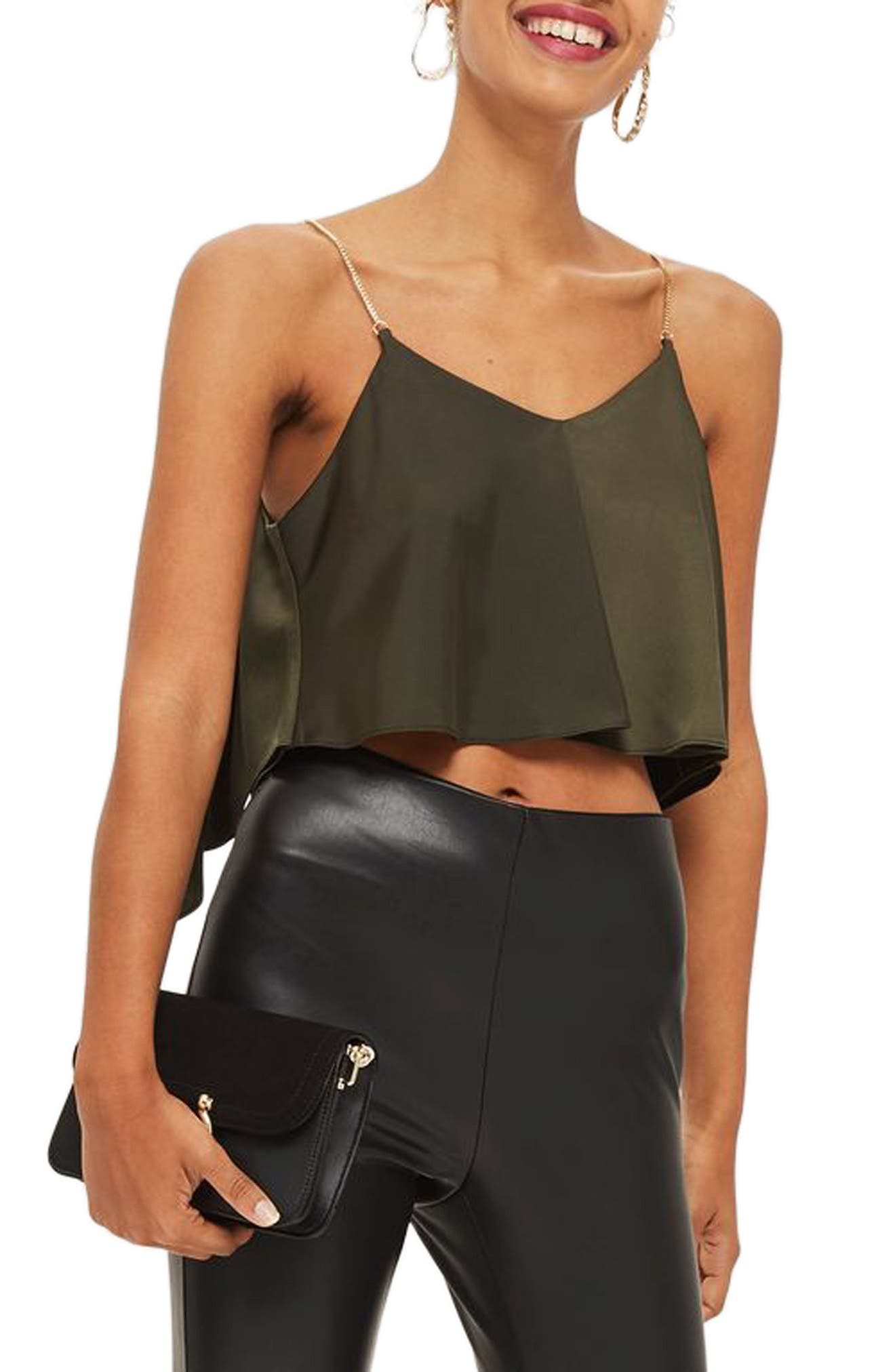 Topshop Chain Strap Camisole Top