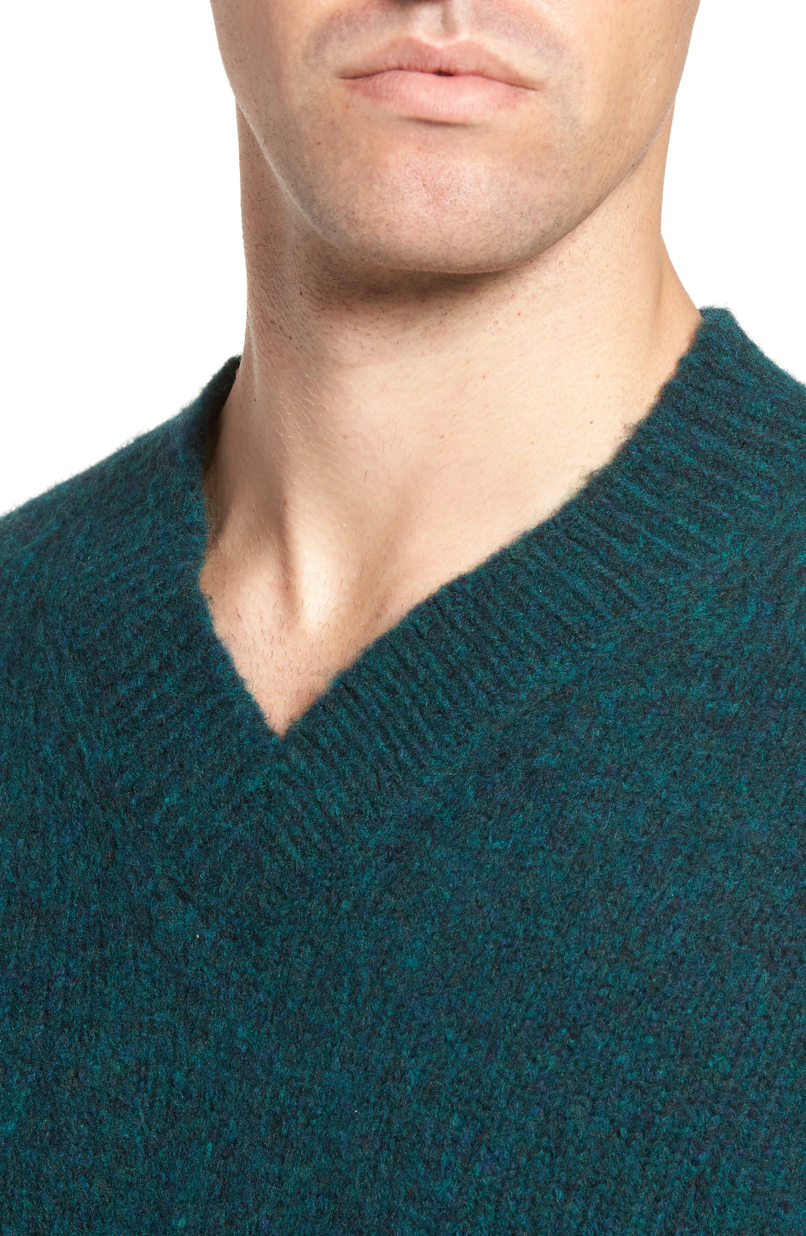 Alternate Image 4  - Bonobos Fuzzy Deep V-Neck Wool Blend Sweater