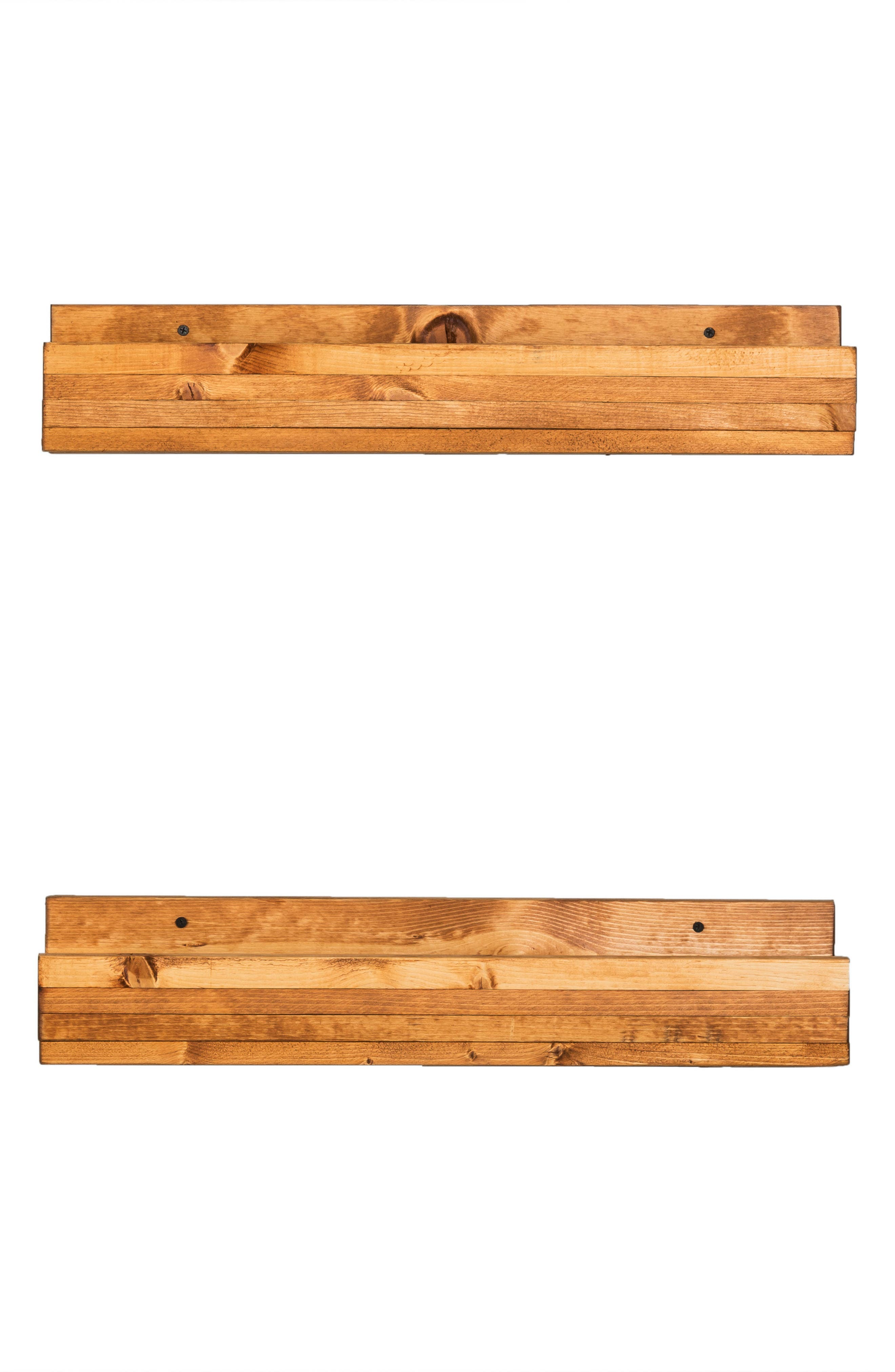 Set of 2 Pine Wood Wine Racks,                         Main,                         color, Walnut