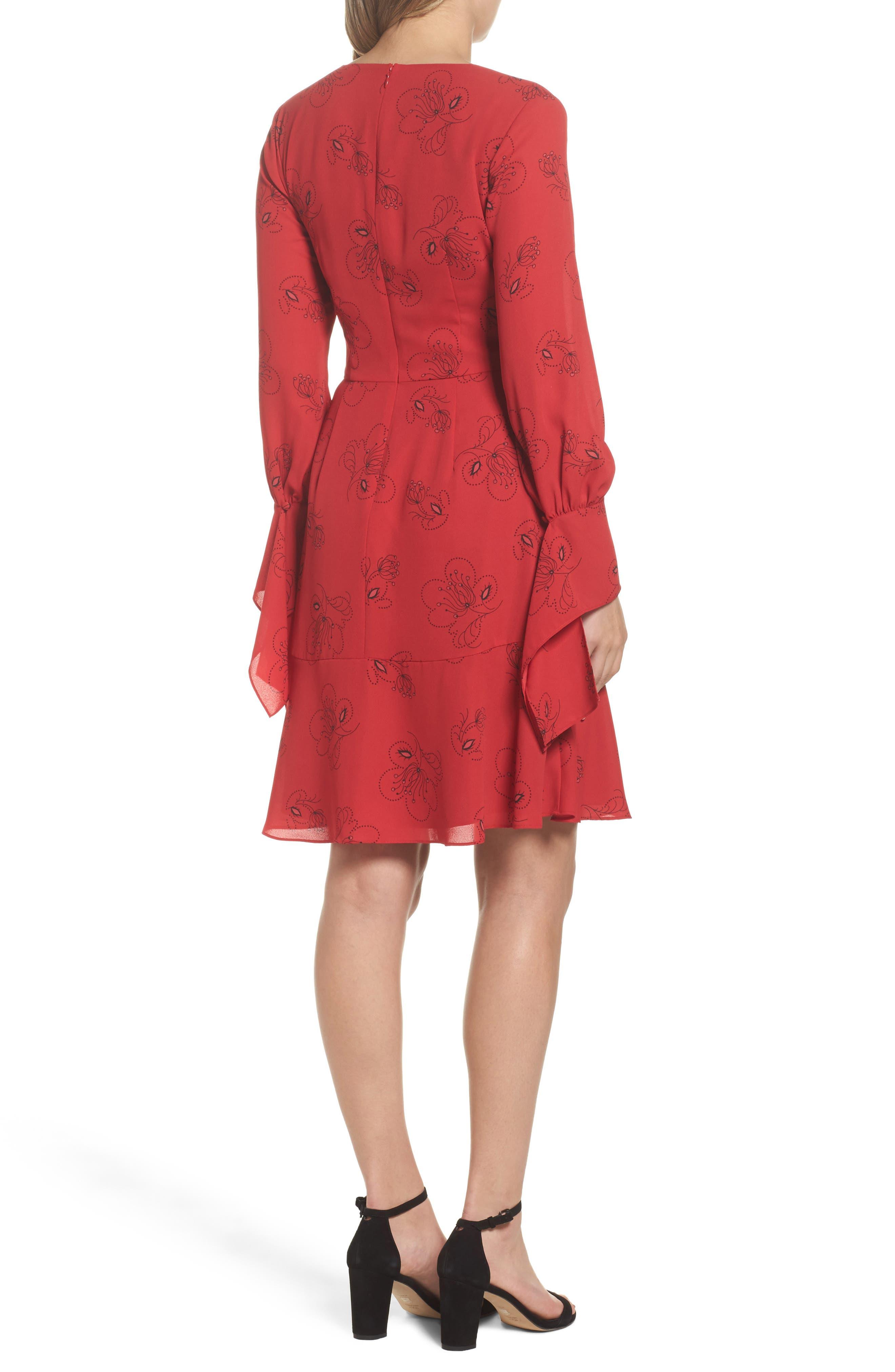 Lizzie Shift Dress,                             Alternate thumbnail 2, color,                             Pomegranate Multi
