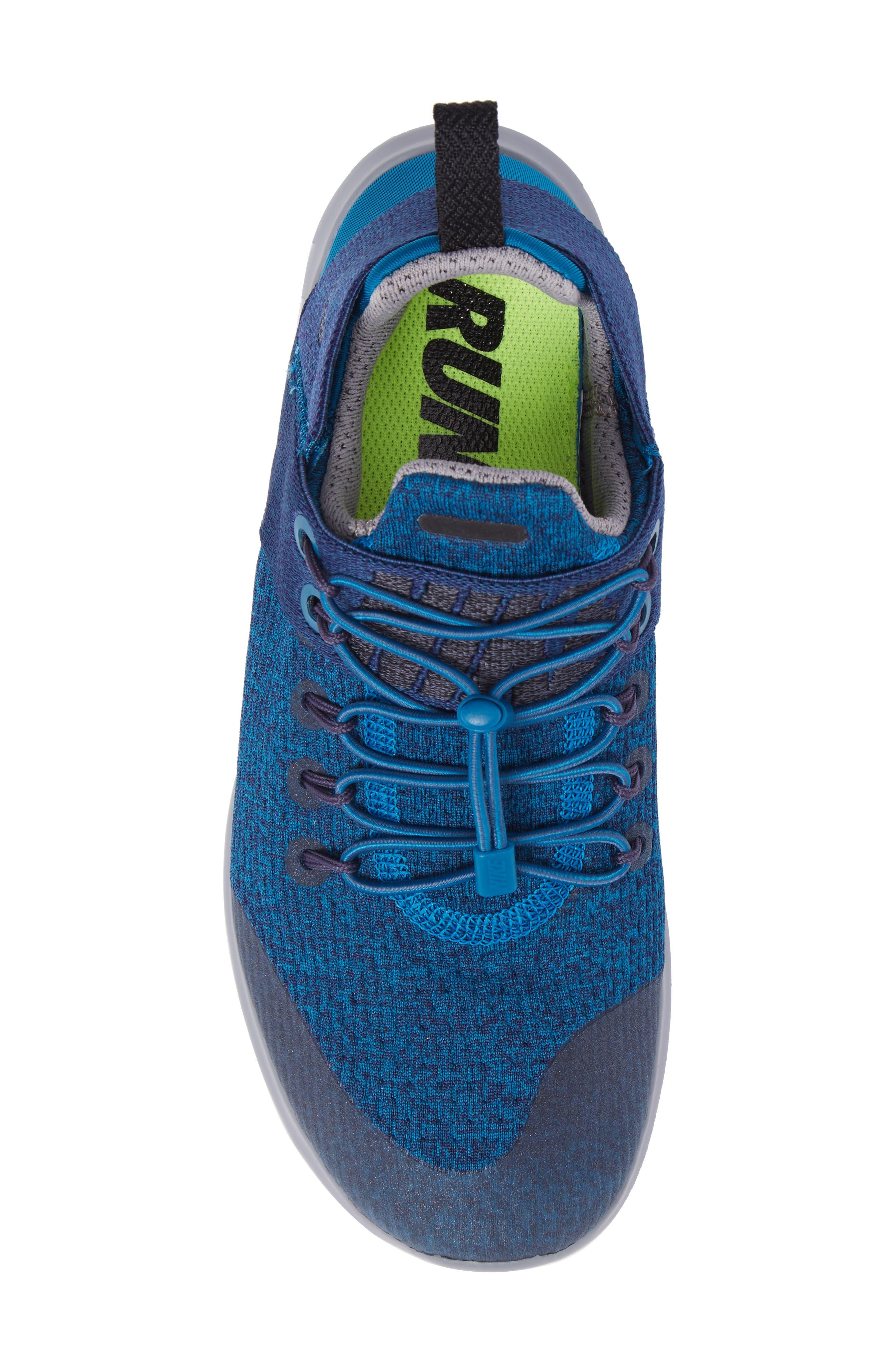 Free RN Commuter 2017 Premium Running Shoe,                             Alternate thumbnail 5, color,                             Green / Black/ Cobblestone