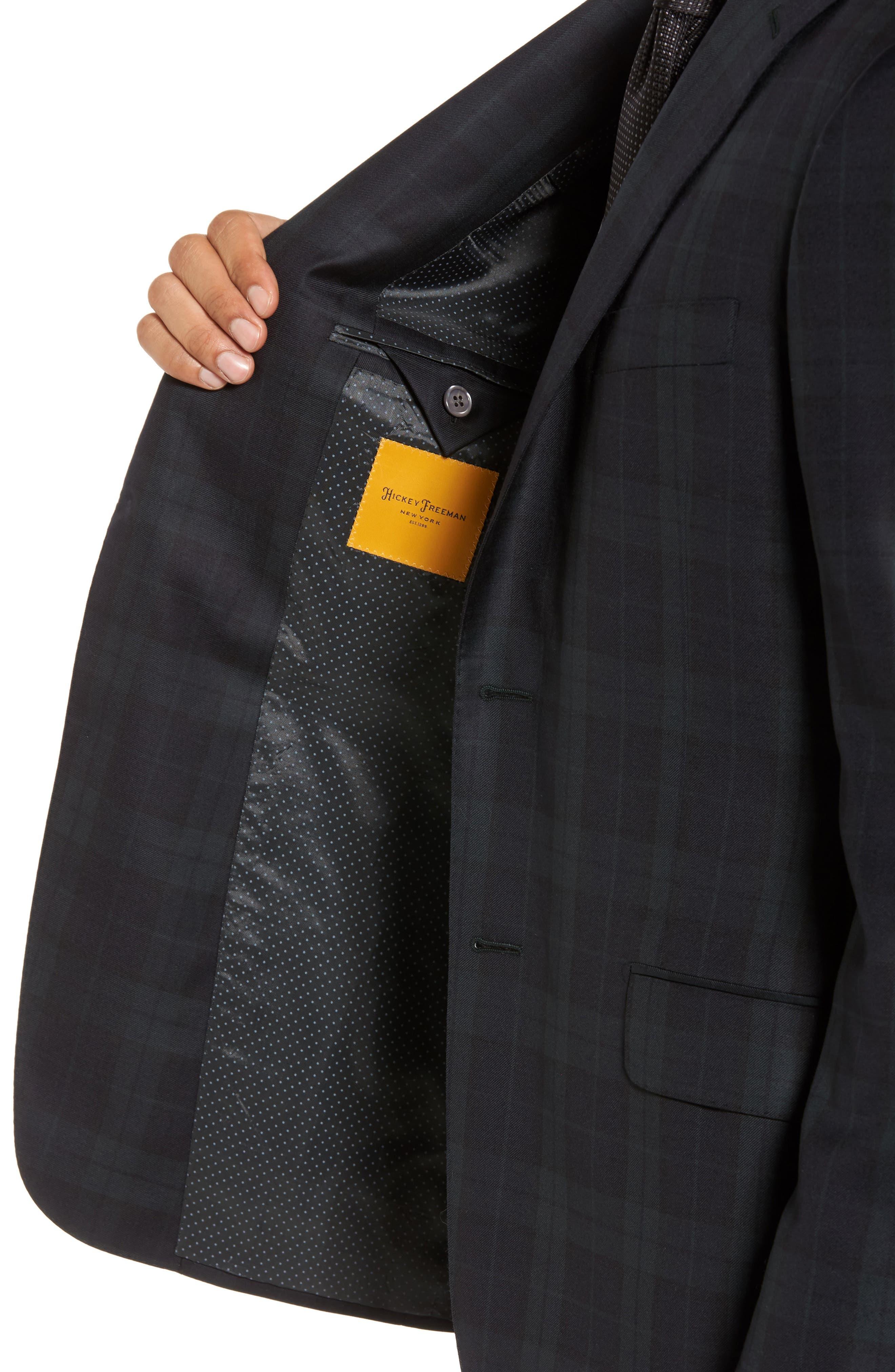 Alternate Image 4  - Hickey Freeman Classic B Fit Plaid Wool Dinner Jacket