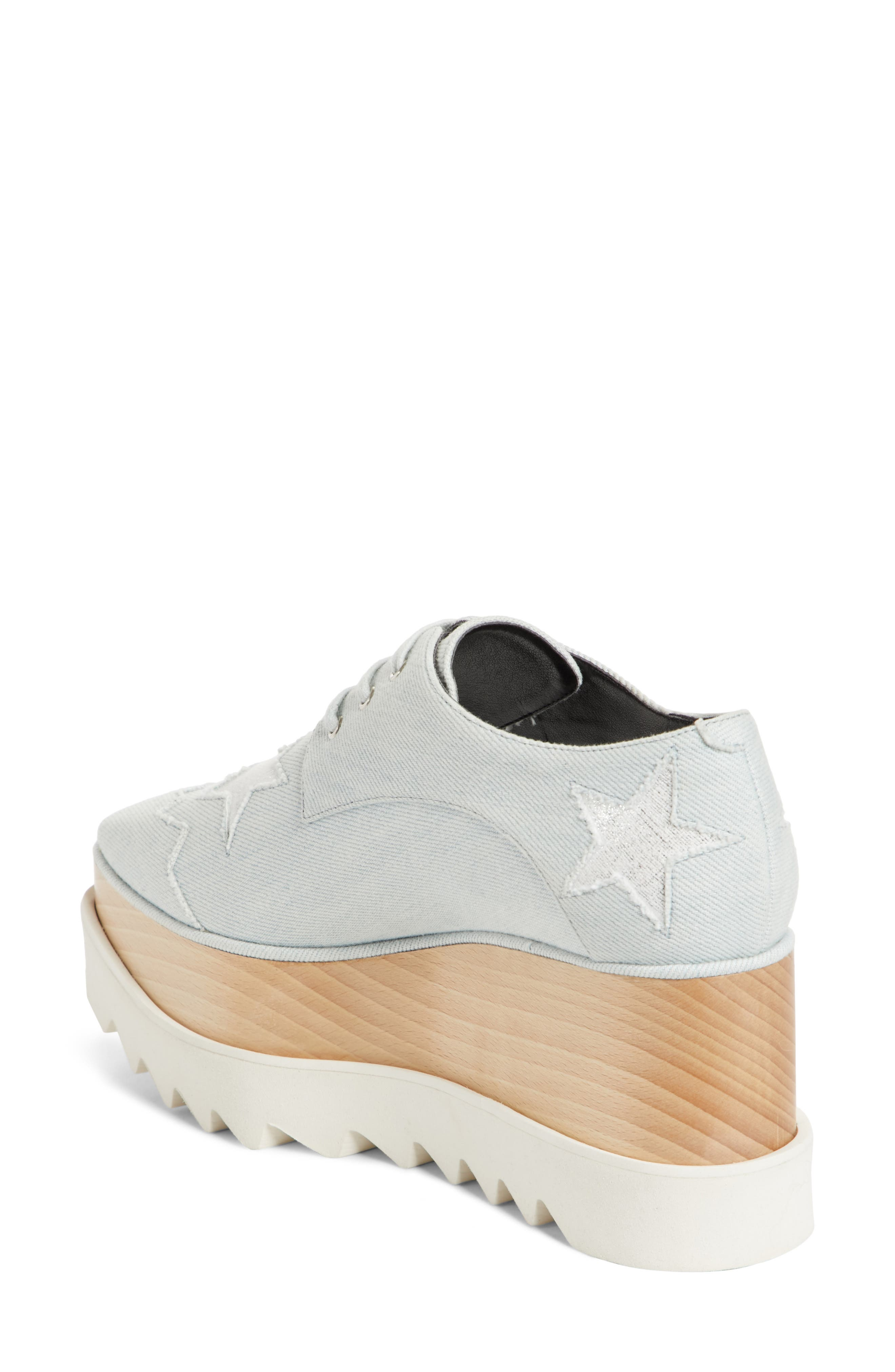 Elyse Platform Oxford,                             Alternate thumbnail 2, color,                             Denim/ Silver