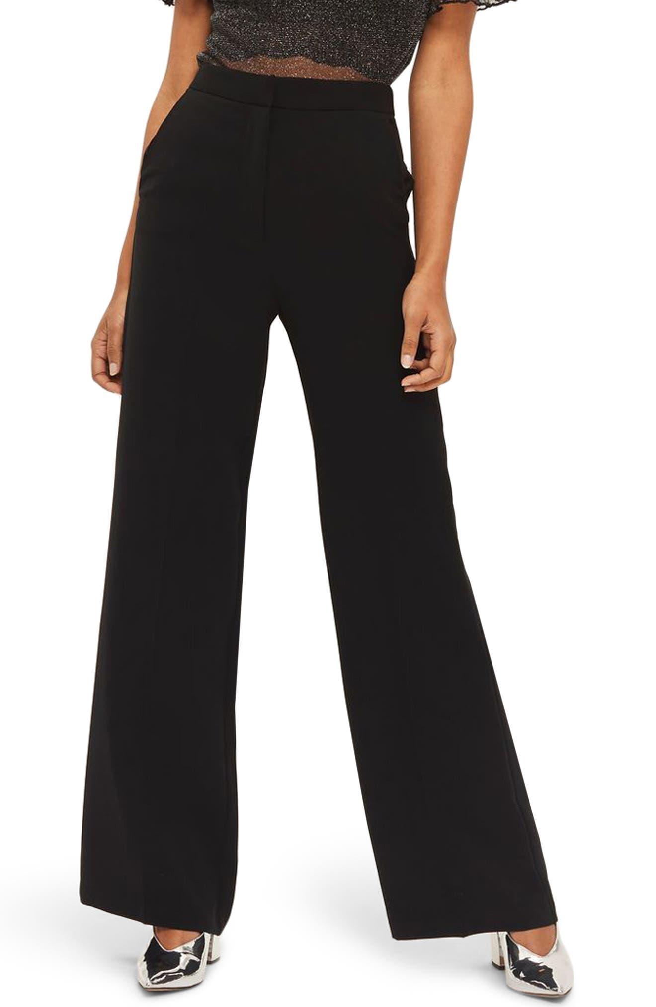 Main Image - Topshop High Waist Wide Leg Trousers
