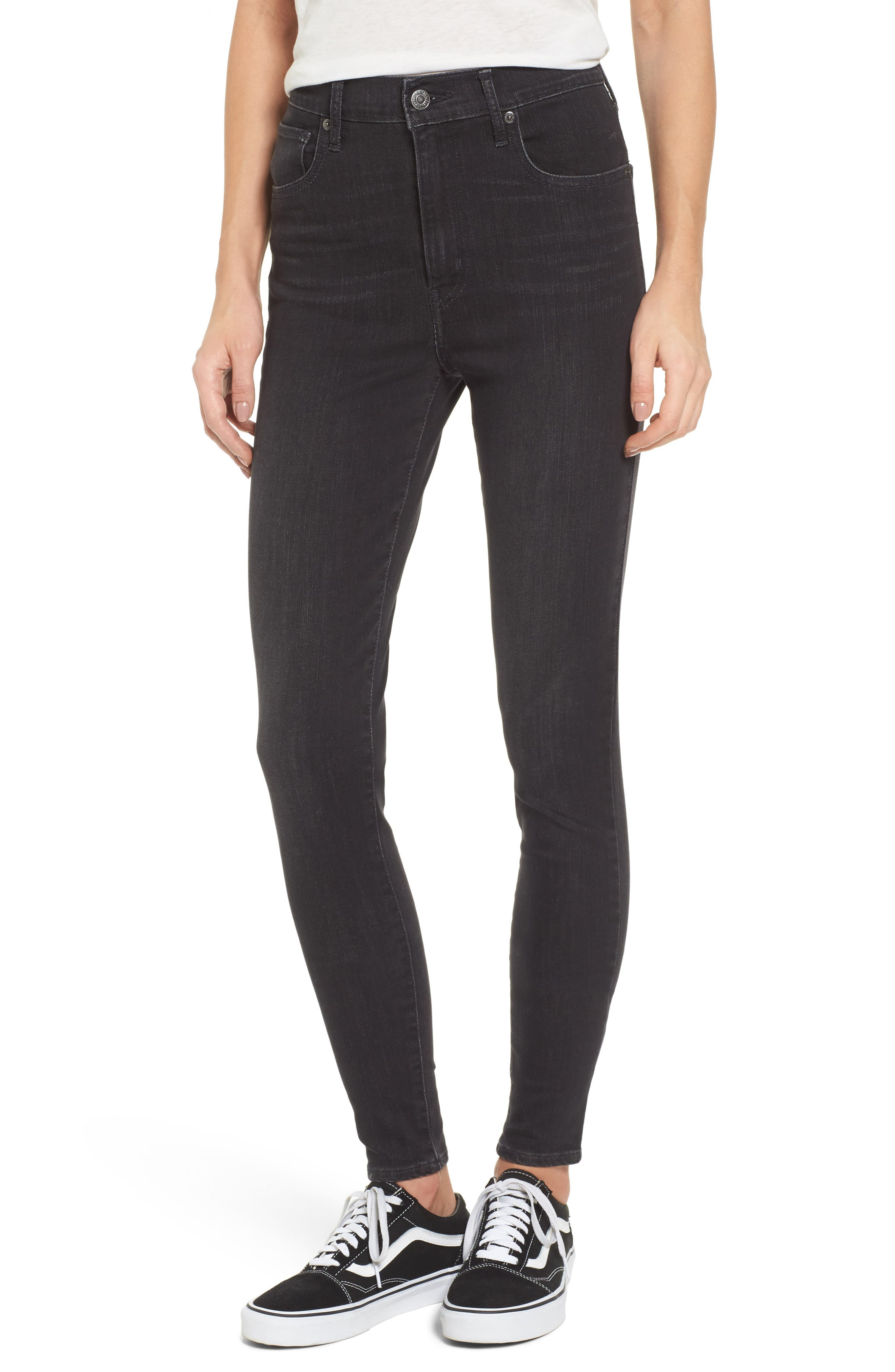 Mile High High Rise Skinny Jeans,                             Main thumbnail 1, color,                             Faded Ink