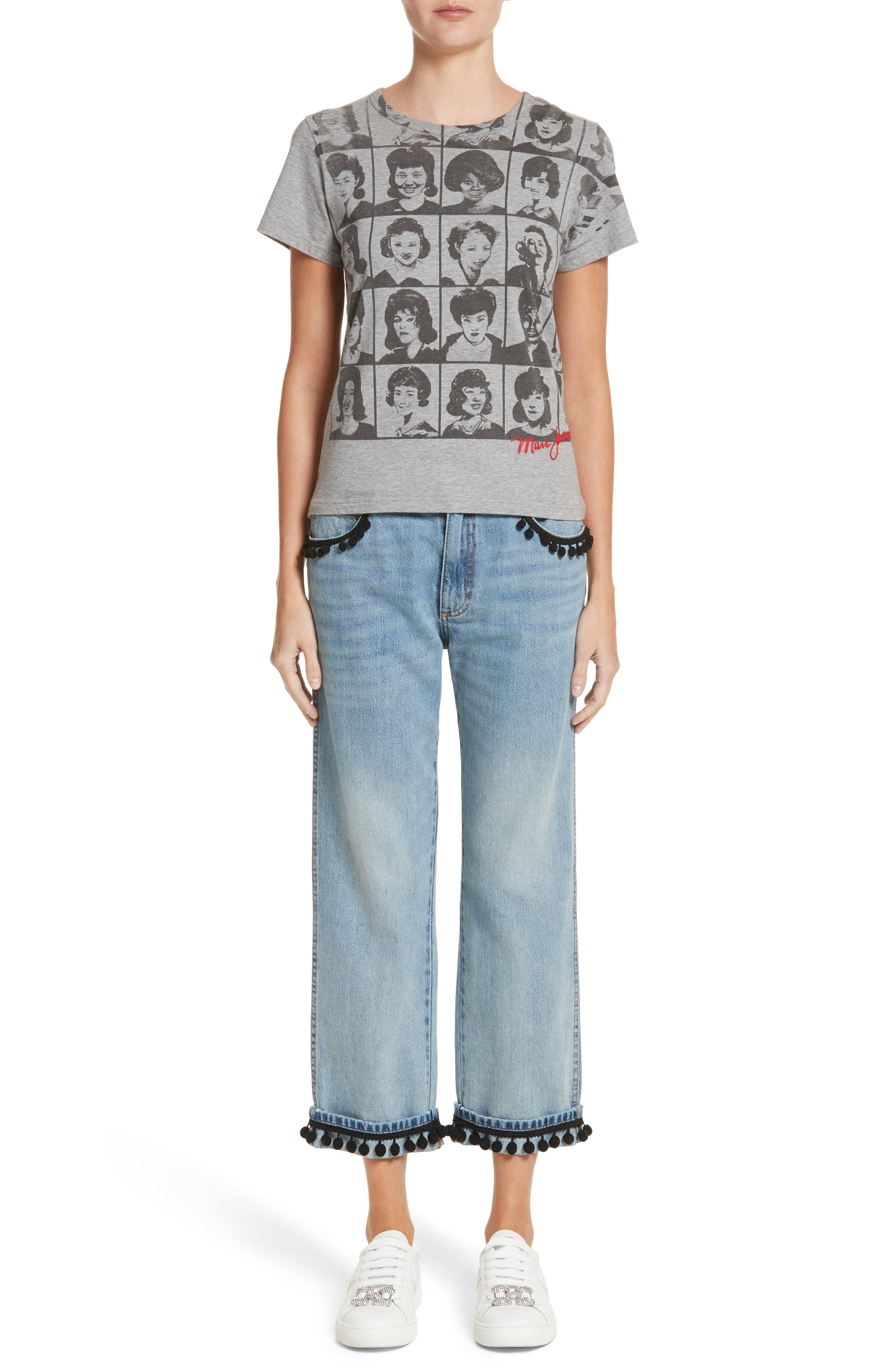 Alternate Image 10  - MARC JACOBS Pom Trim Crop Jeans