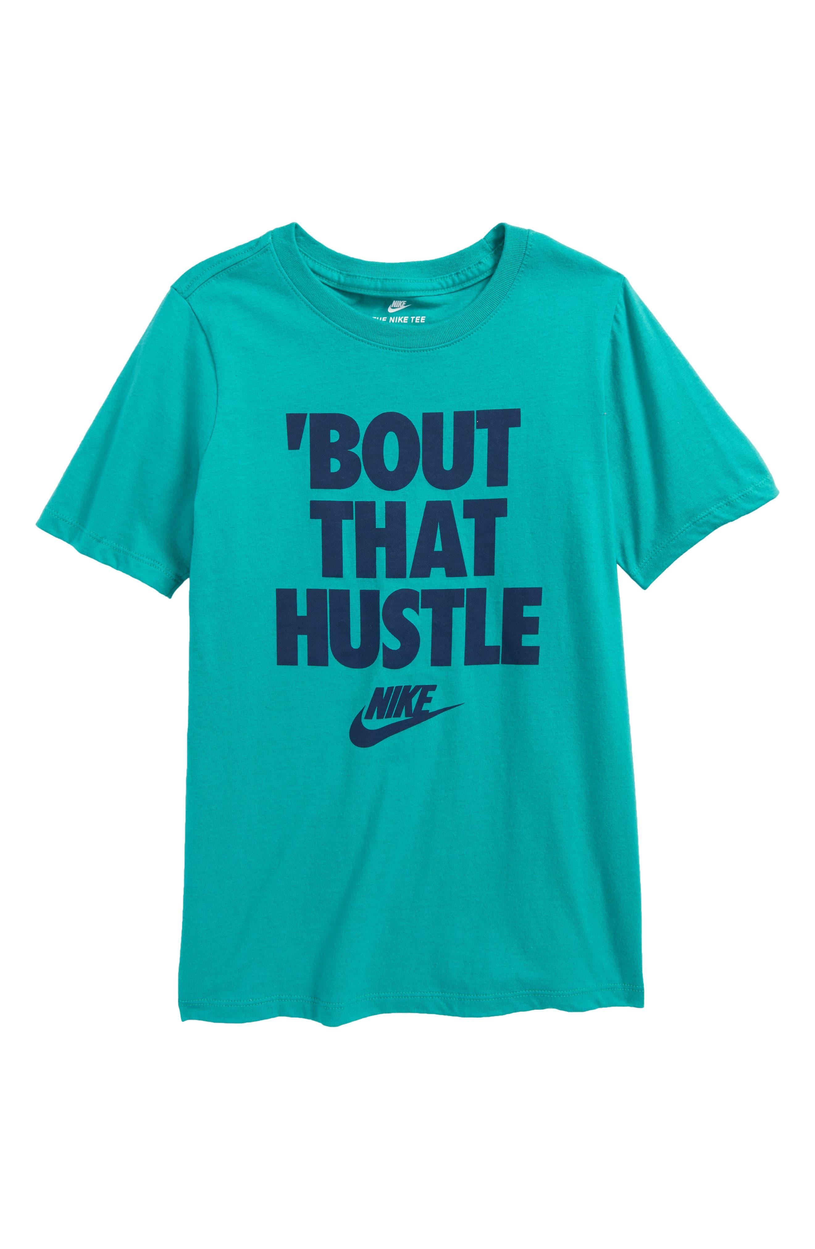 Alternate Image 1 Selected - Nike Hustle Graphic T-Shirt (Little Boys & Big Boys)