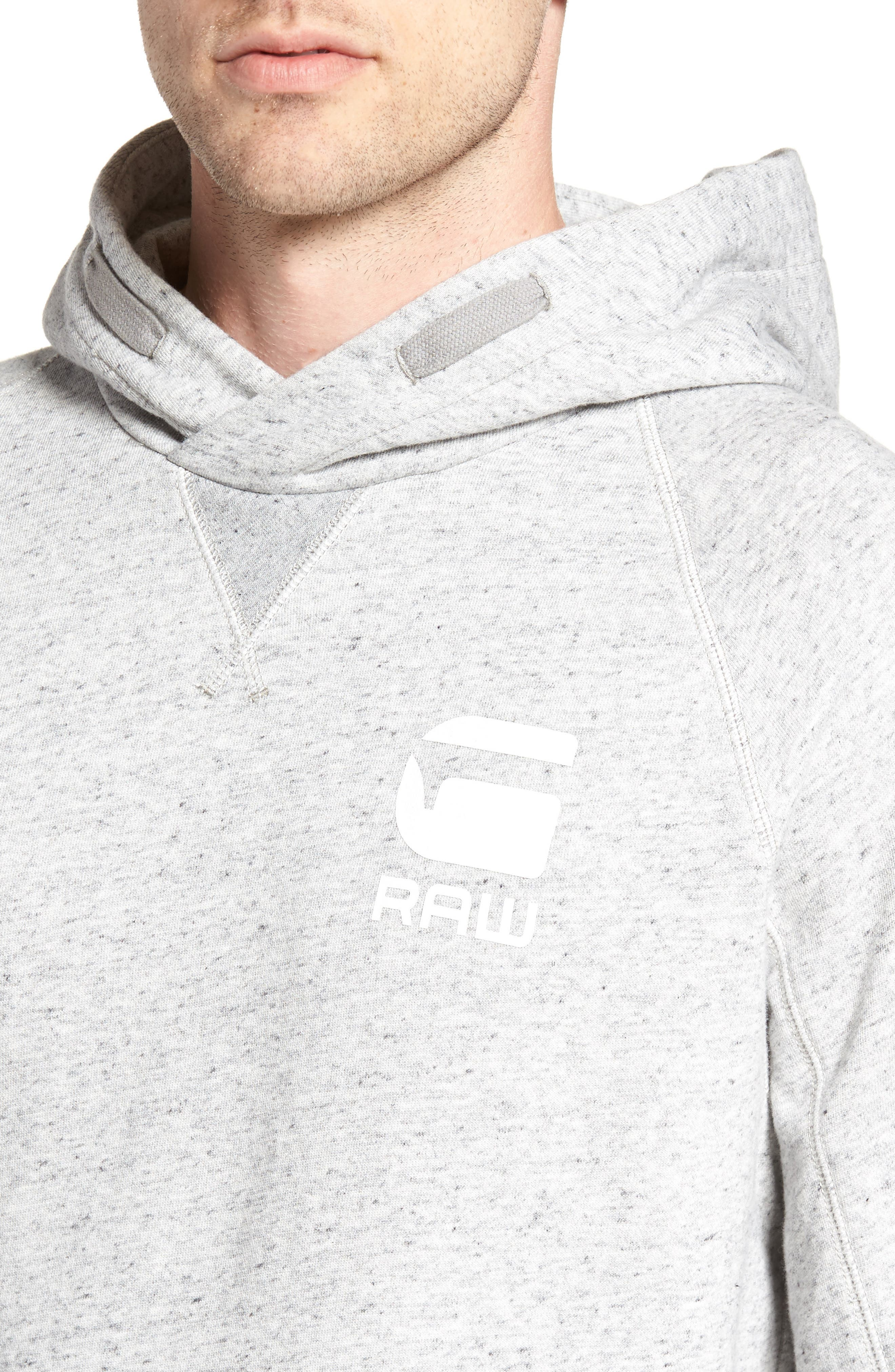 Callow Pullover Hoodie,                             Alternate thumbnail 4, color,                             Grey Heather