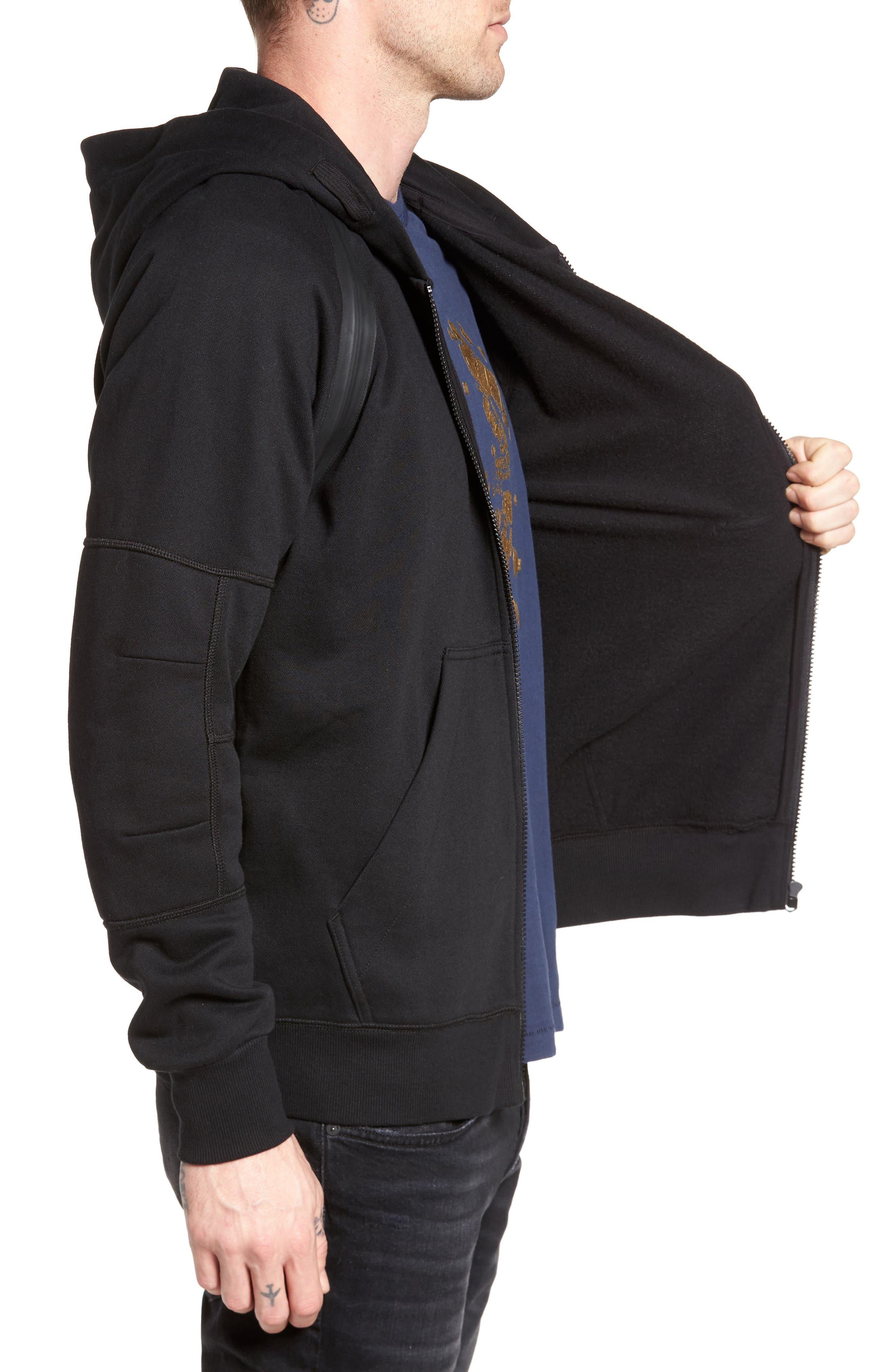Alternate Image 3  - G-Star Raw Rackam Zip Hoodie with Faux Leather Trim