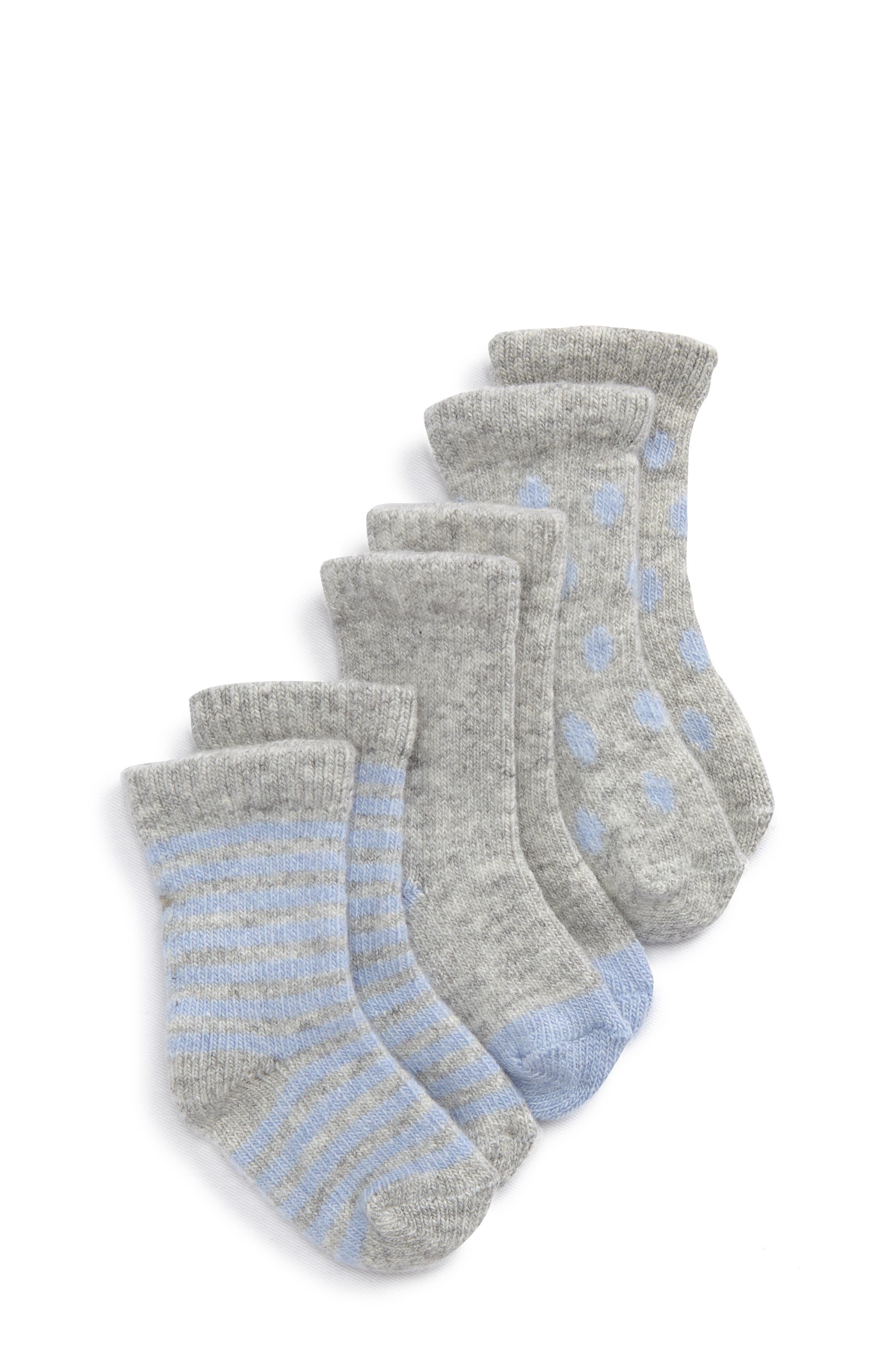 Main Image - Tucker + Tate Assorted 3-Pack Wool & Cashmere Socks (Baby)