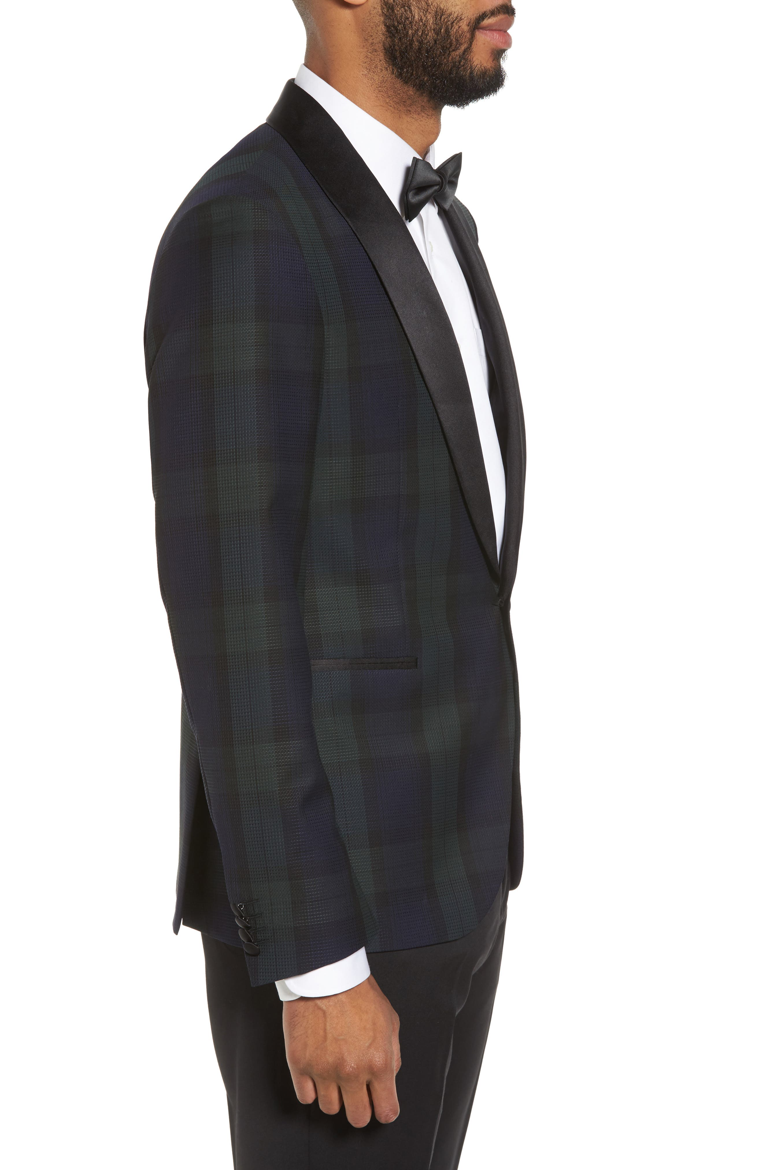 Nemir Classic Fit Wool Dinner Jacket,                             Alternate thumbnail 3, color,                             Green