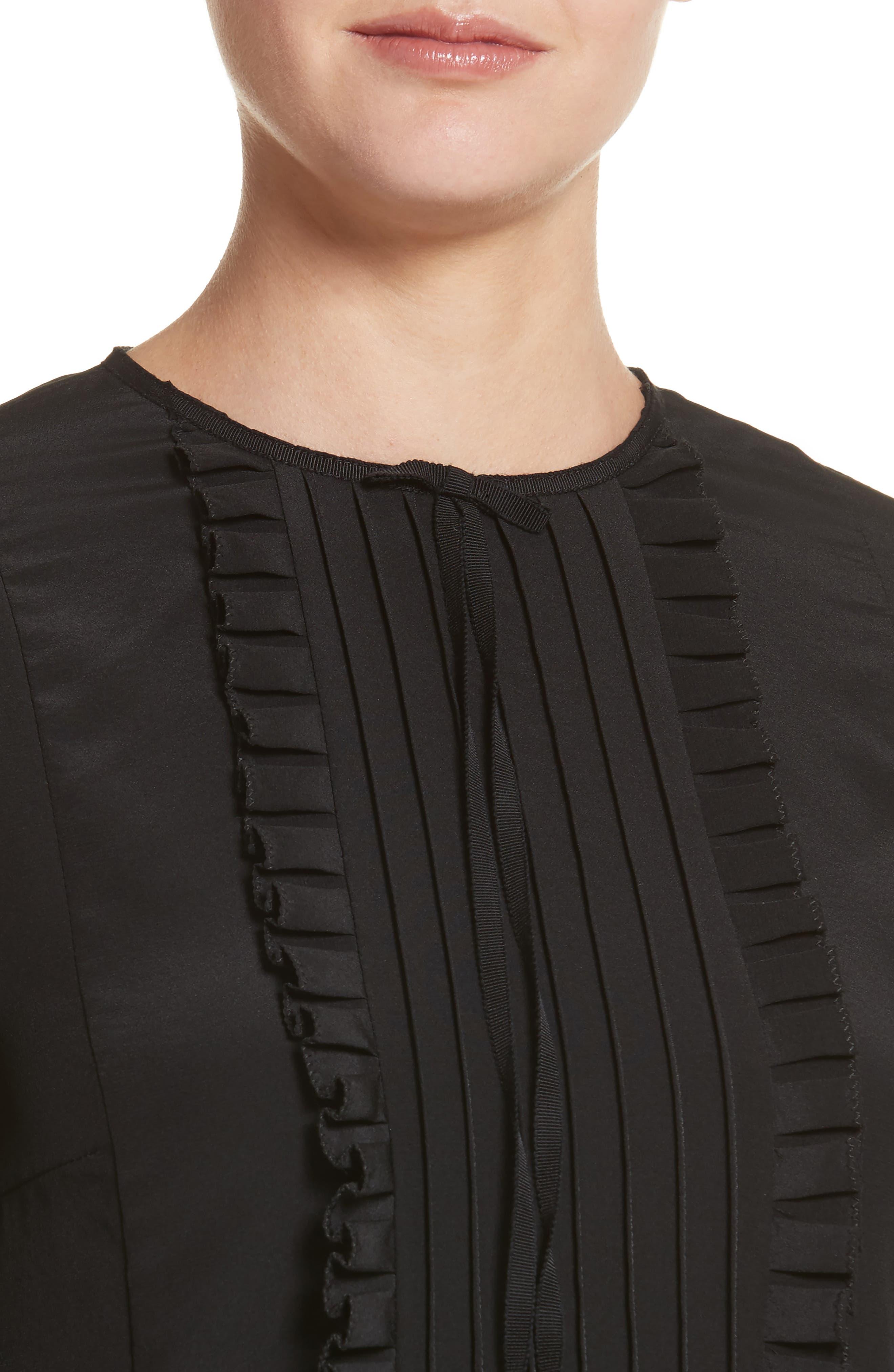 Alternate Image 4  - MARC JACOBS Pleated Ruffle Silk Blouse