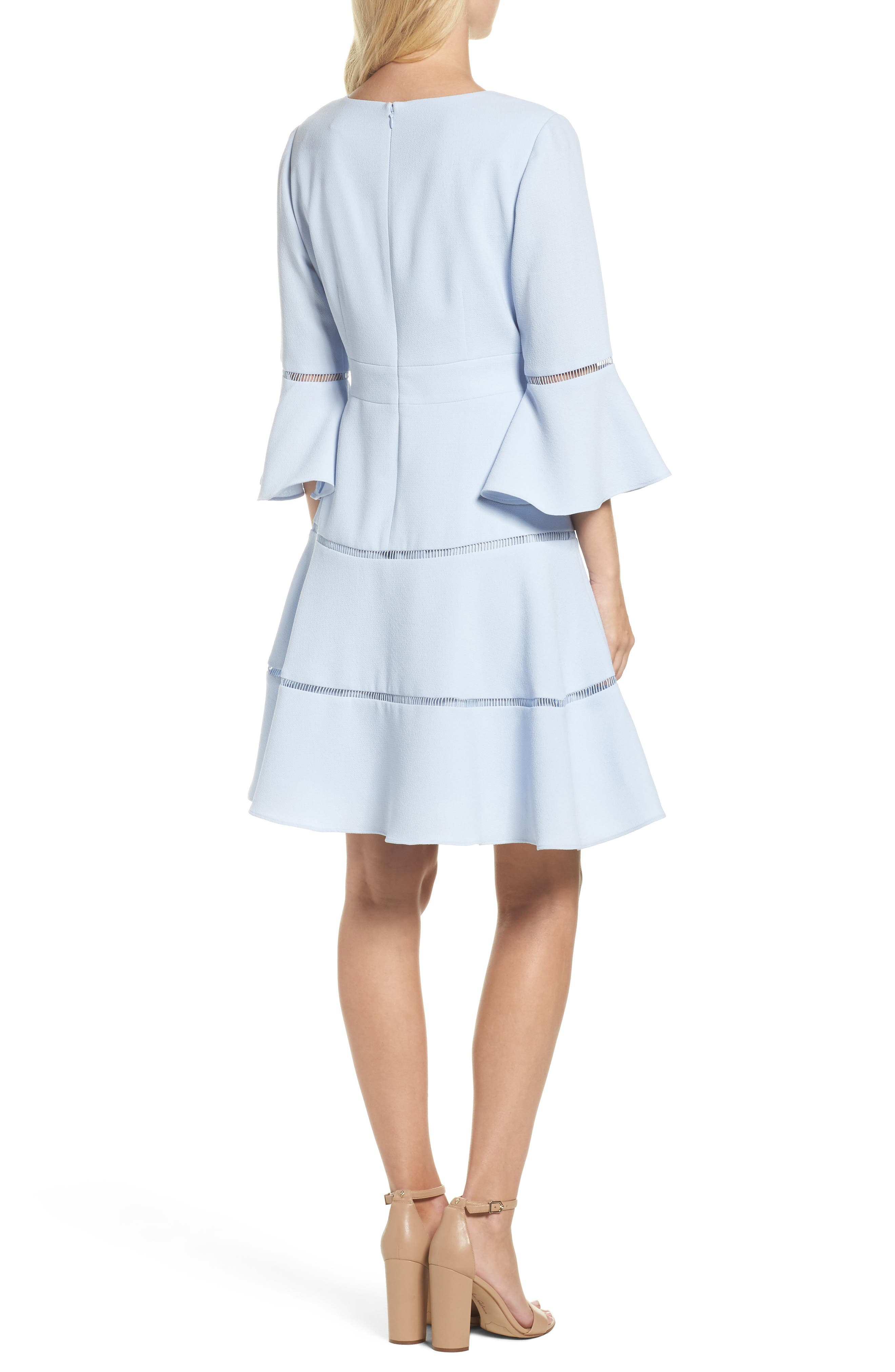 Alternate Image 2  - Eliza J Lace Inset Fit & Flare Dress (Regular & Petite)