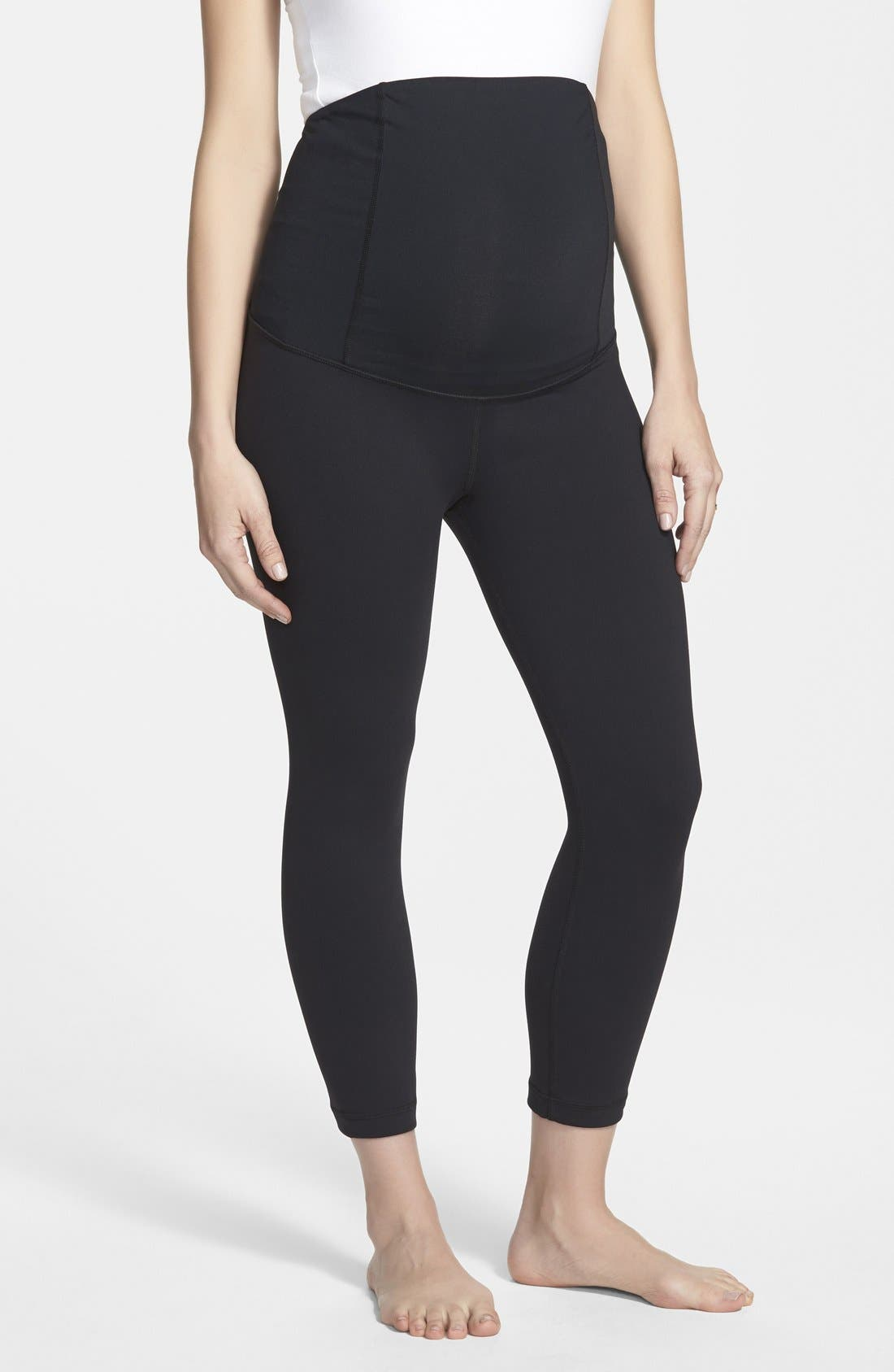 Alternate Image 1 Selected - Ingrid & Isabel® Active Maternity Capri Pants with Crossover Panel