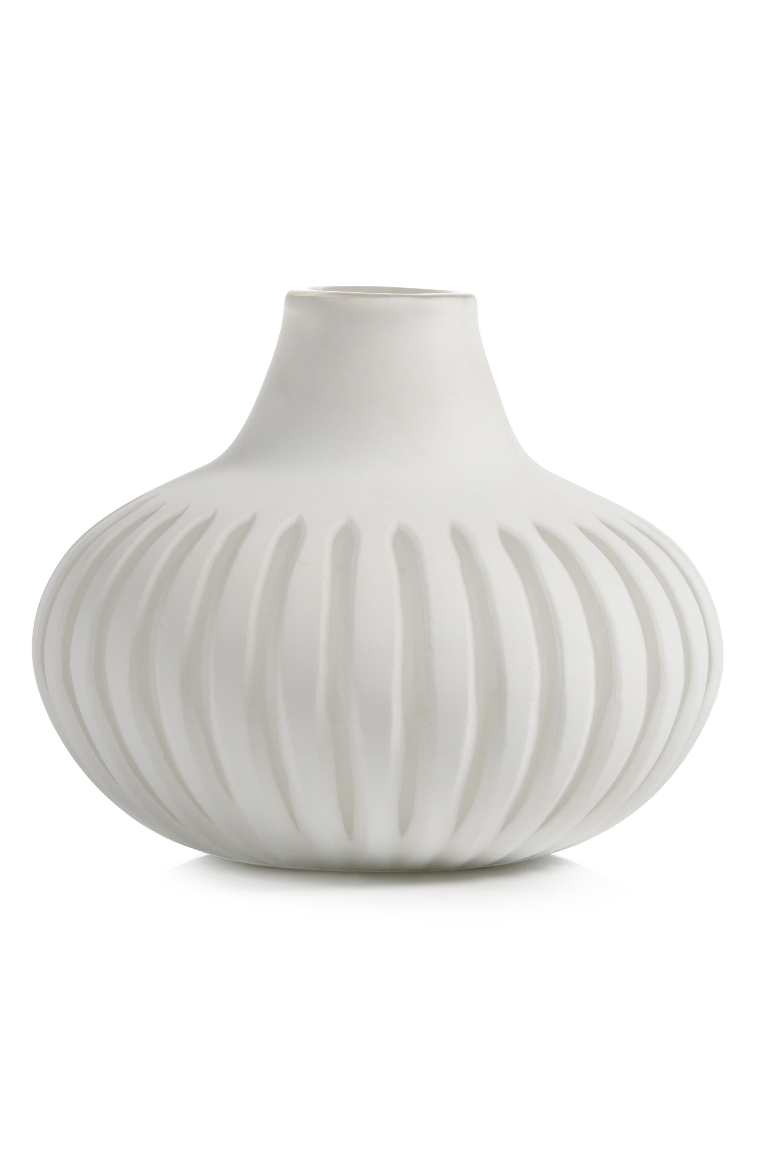 Sakana Glass Vase,                             Main thumbnail 1, color,                             White