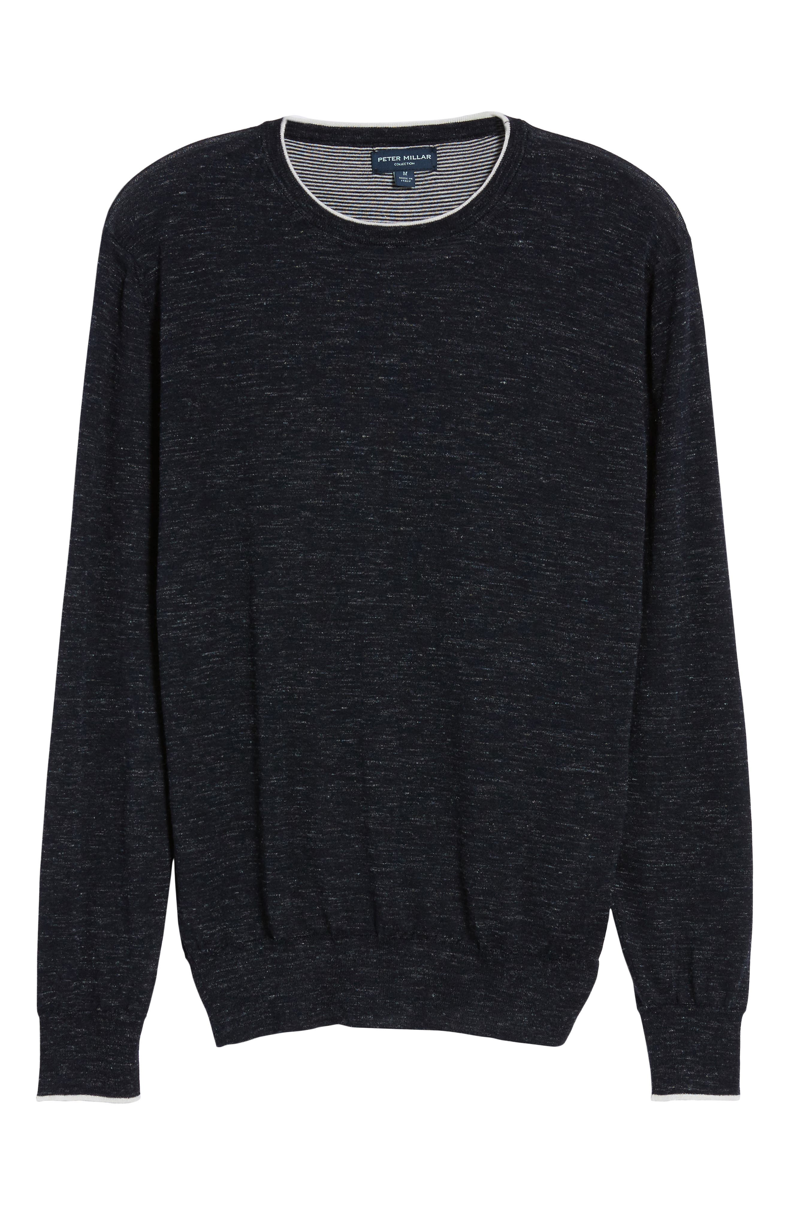 Summertime Crewneck Cotton & Silk Sweater,                             Alternate thumbnail 6, color,                             Barchetta