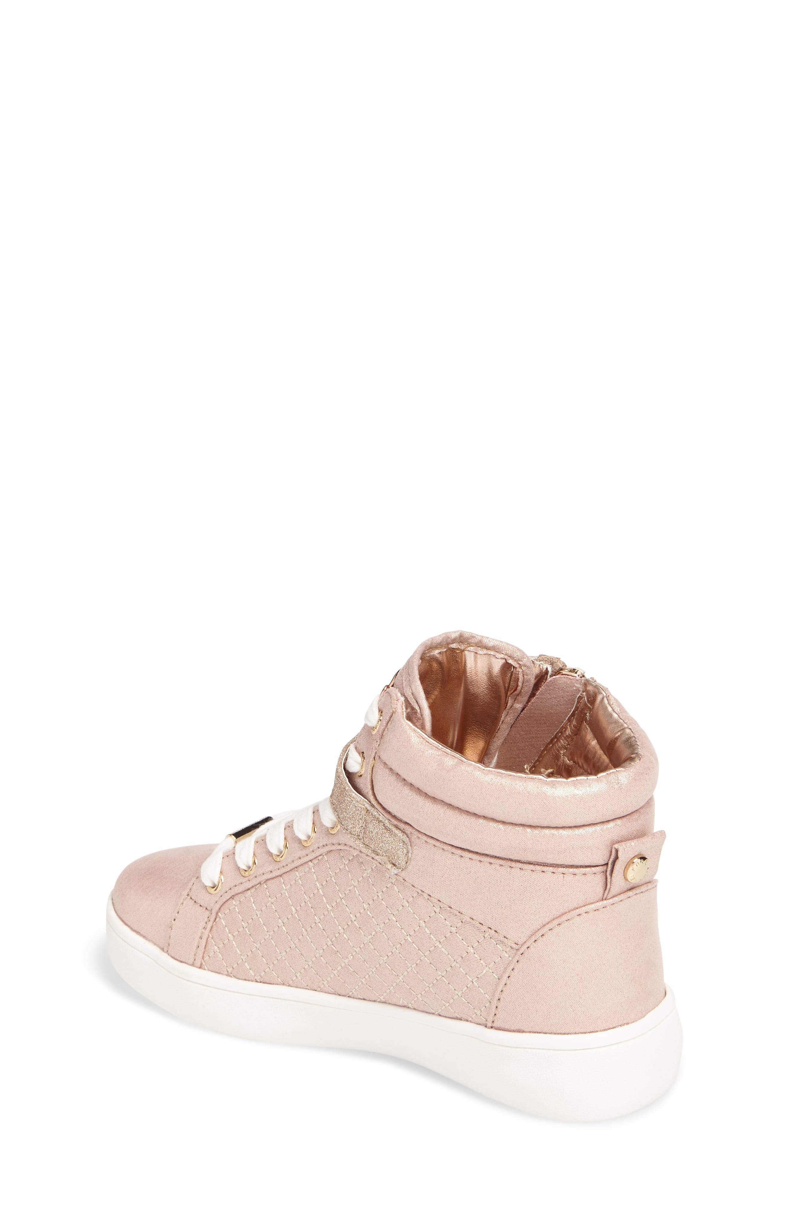 Ivy Rio Glittery High Top Sneaker,                             Alternate thumbnail 2, color,                             Rose Gold