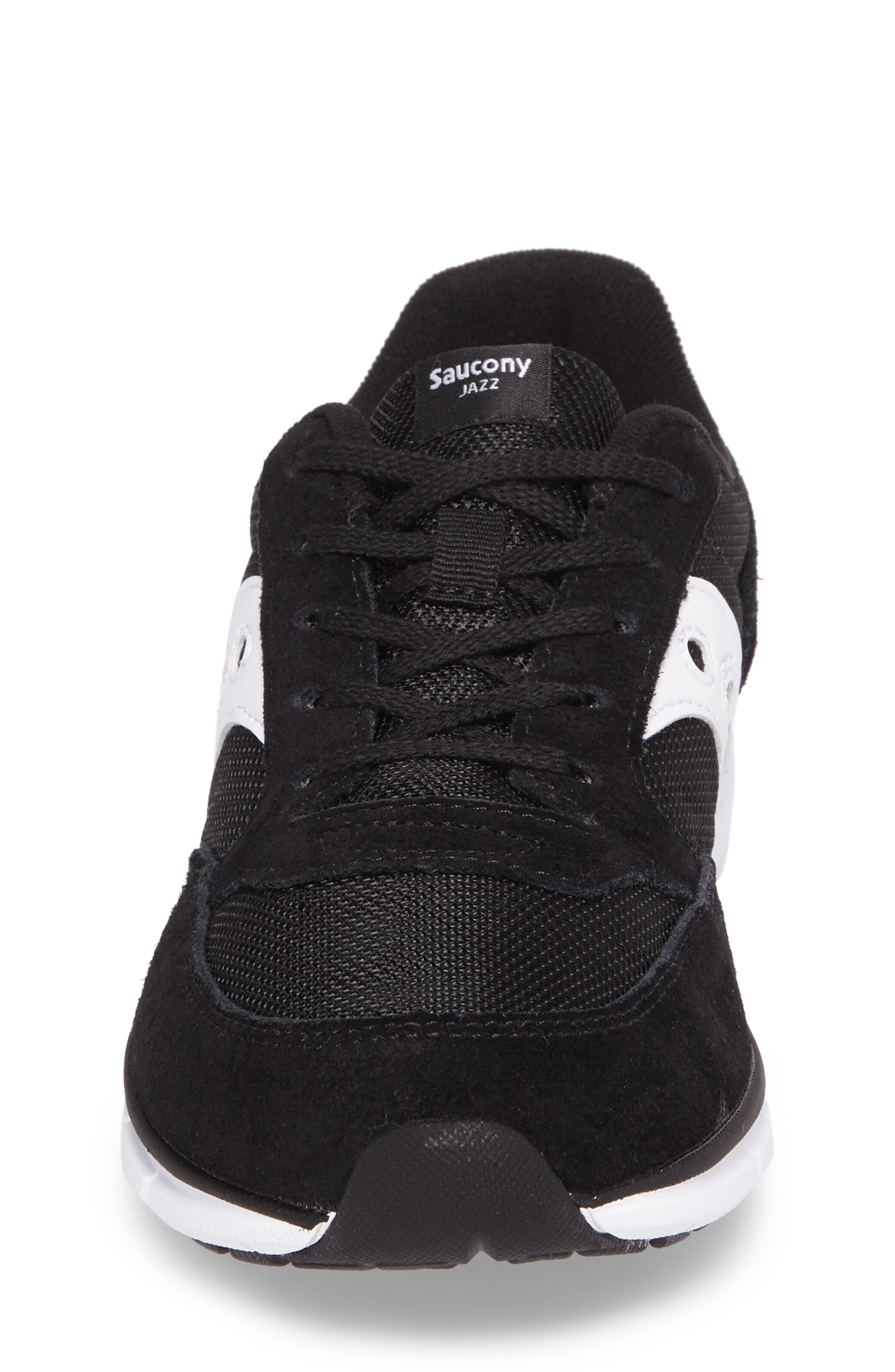 Jazz Lite Athletic Shoe,                             Alternate thumbnail 4, color,                             Black/ Black